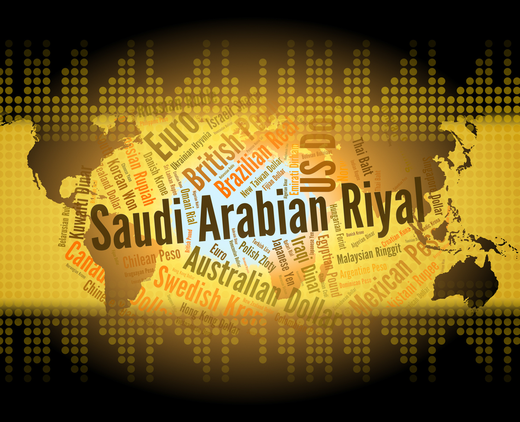 Saudi arabian riyal means foreign currency and banknote photo