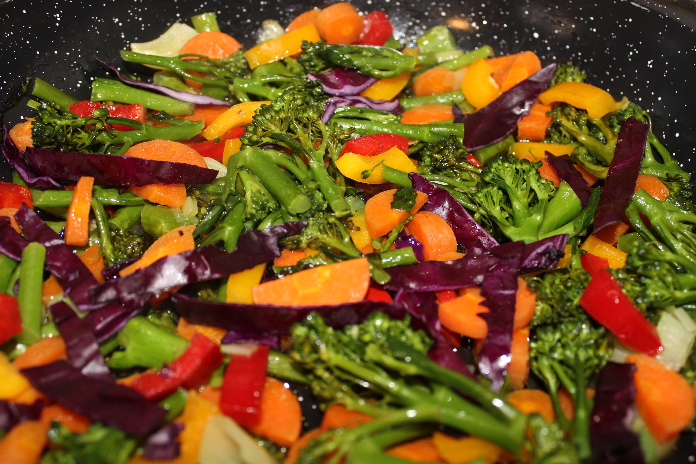 Sauteed vegetables photo