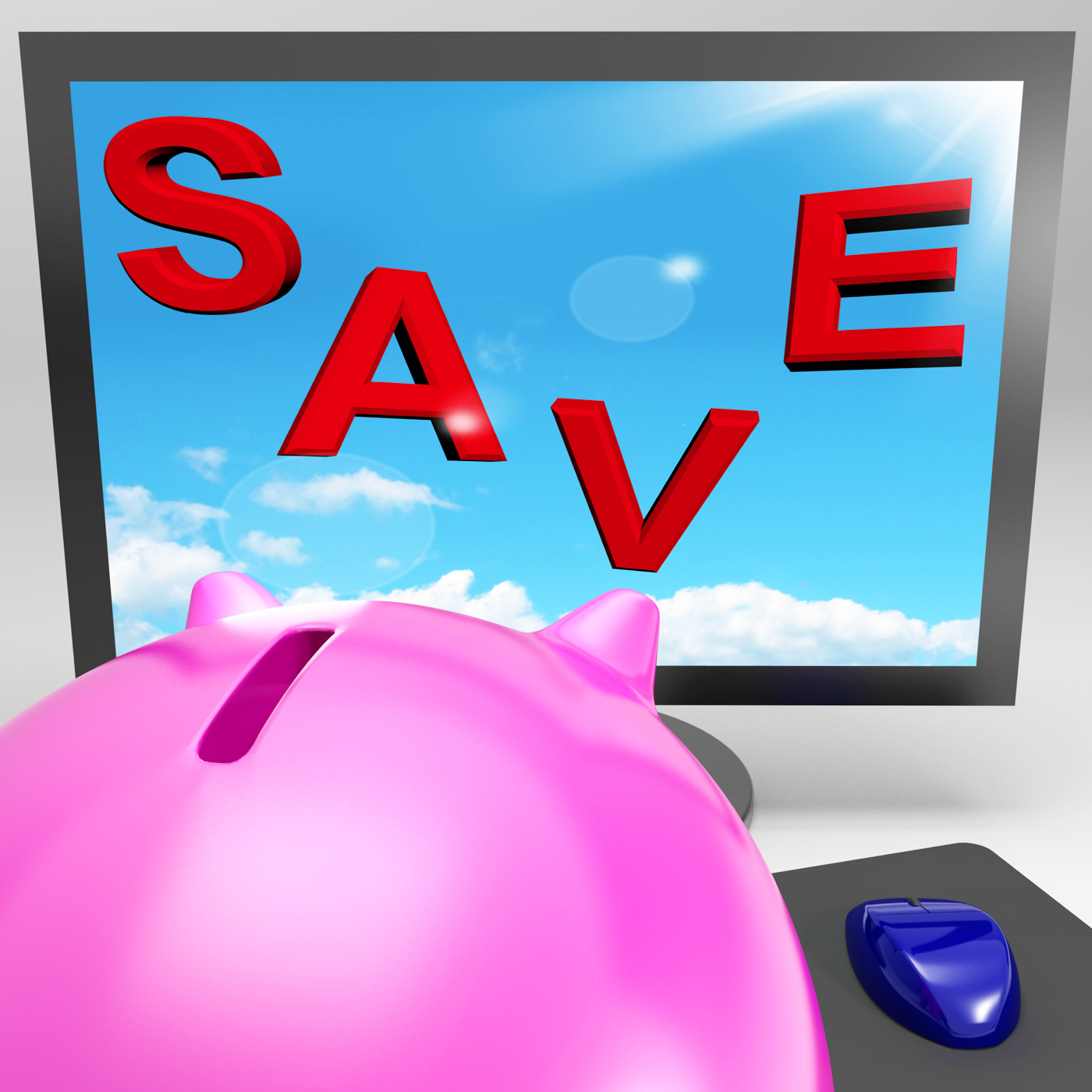 Save on monitor shows big promotions photo