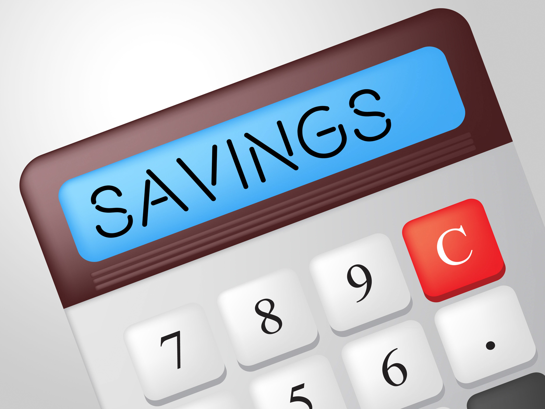 Savings calculator indicates cash increase and wealth photo