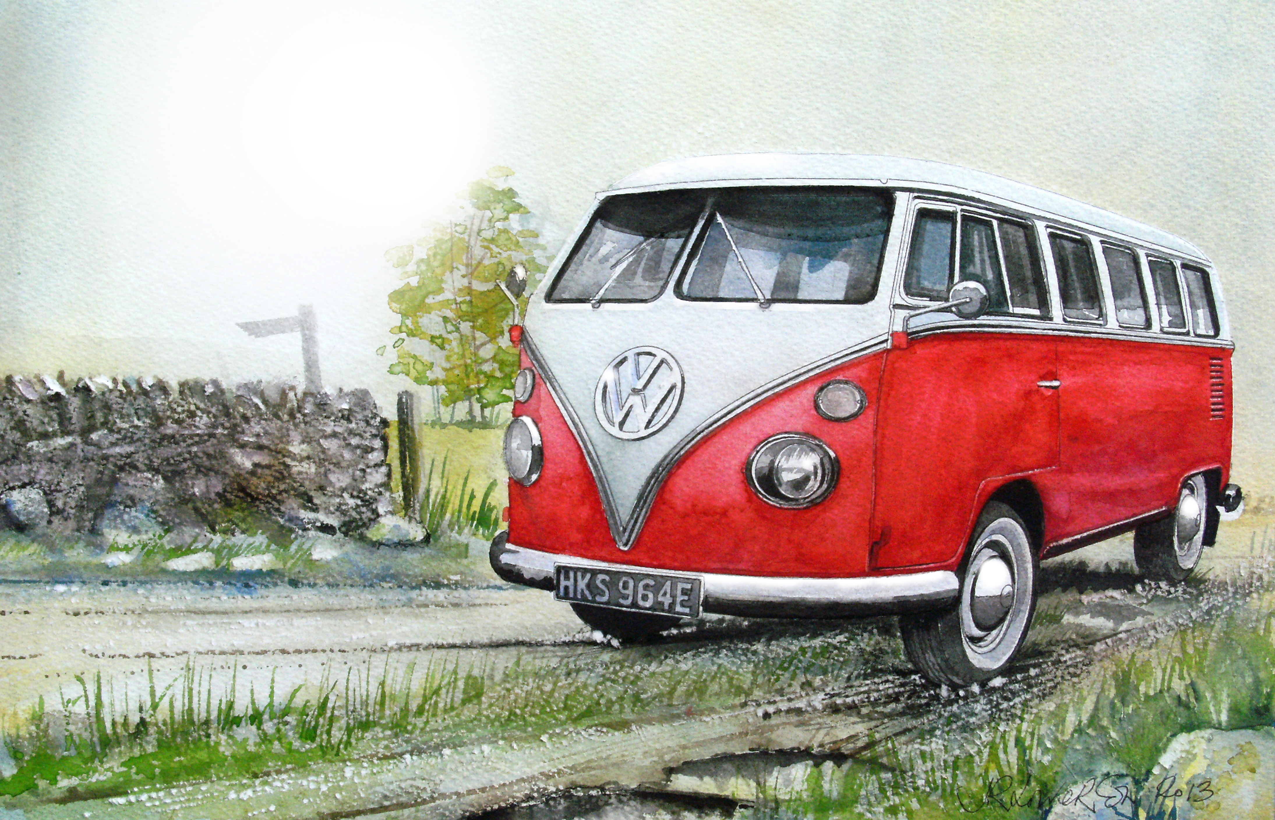 Saw you shining in the sun this morning, Train, Vehicle, Paintingsofcars, Paintings, HQ Photo