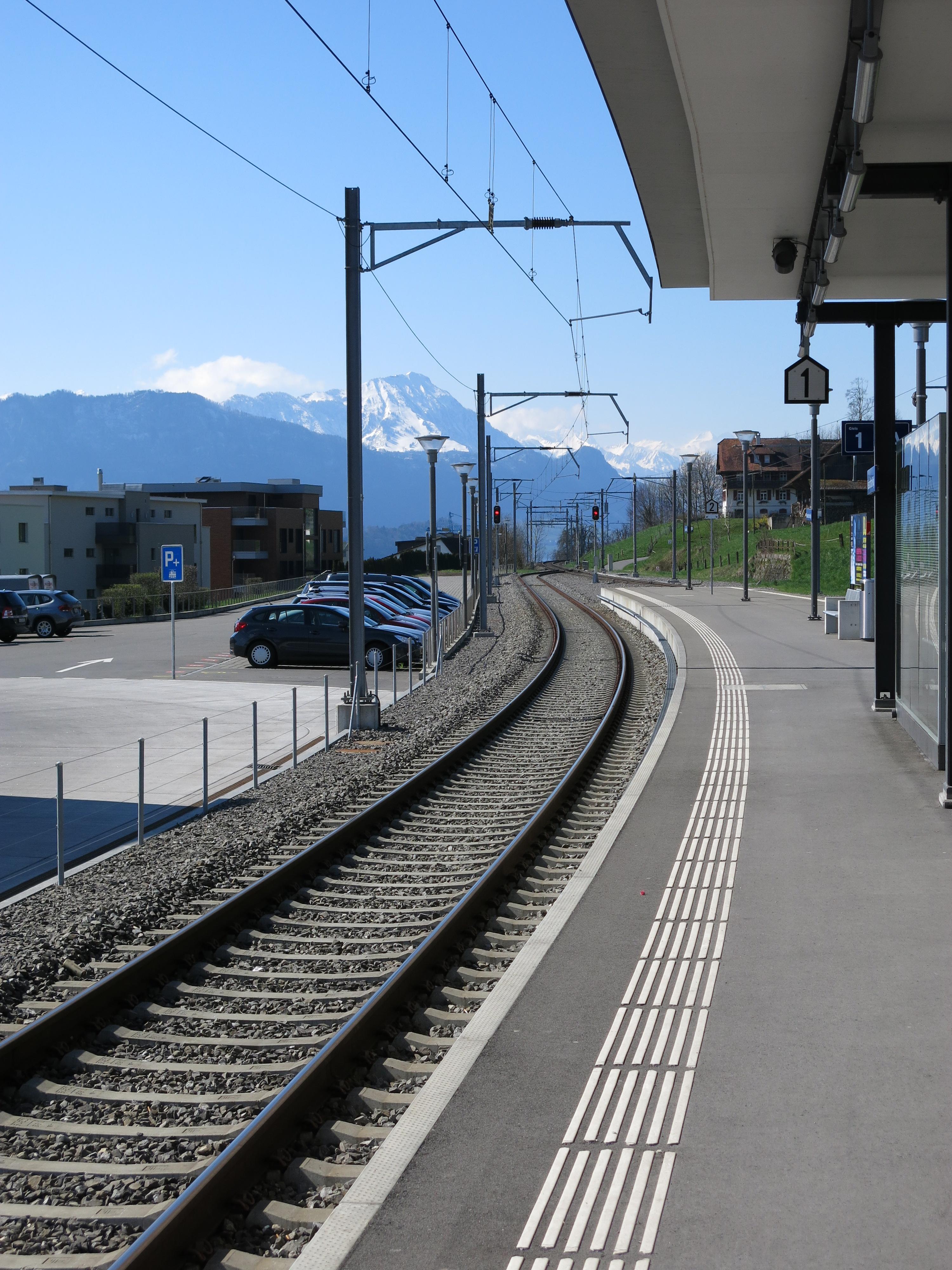 Sbb train station küssnacht am rigi, switzerland photo