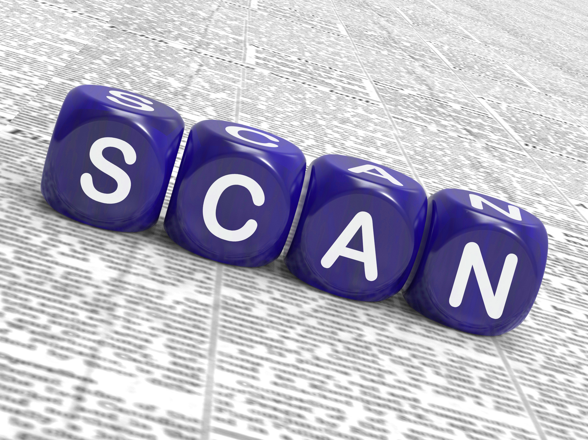 Scan dice show browse or flip through photo