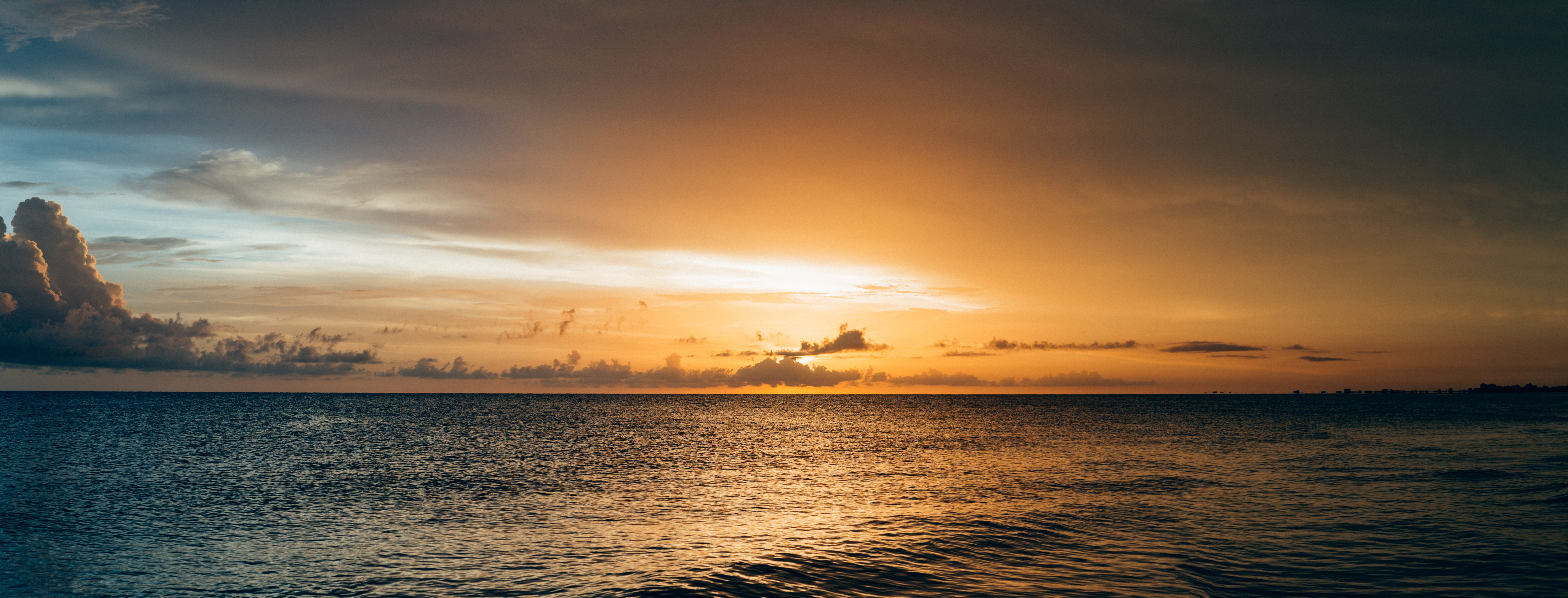 Scenery of Sea Water during Sunset, Beach, Clouds, Dawn, Dusk, HQ Photo