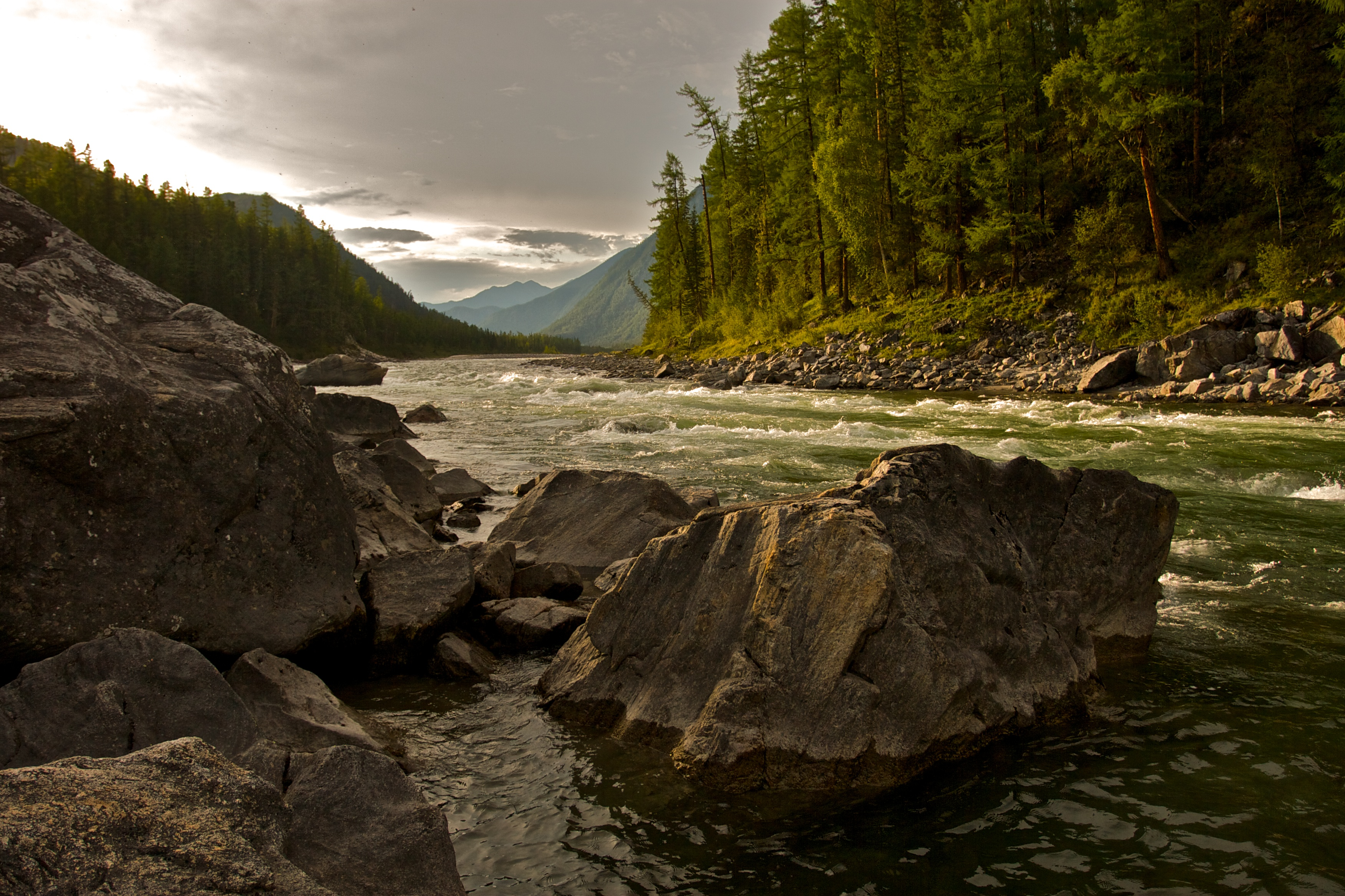 Scenic river with whitewater photo