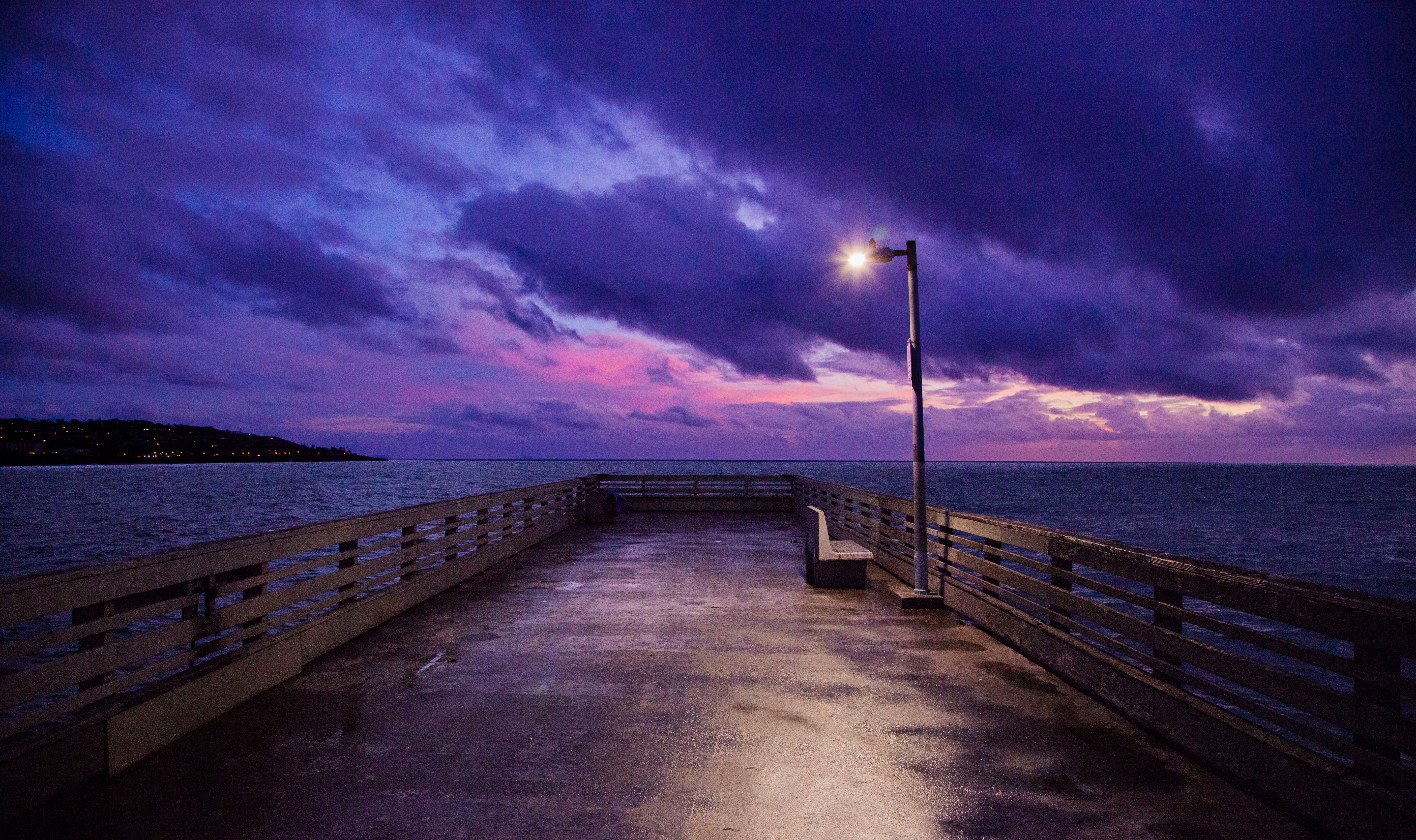 Scenic View From the Dock, Beach, Ocean, Tranquil, Sky, HQ Photo