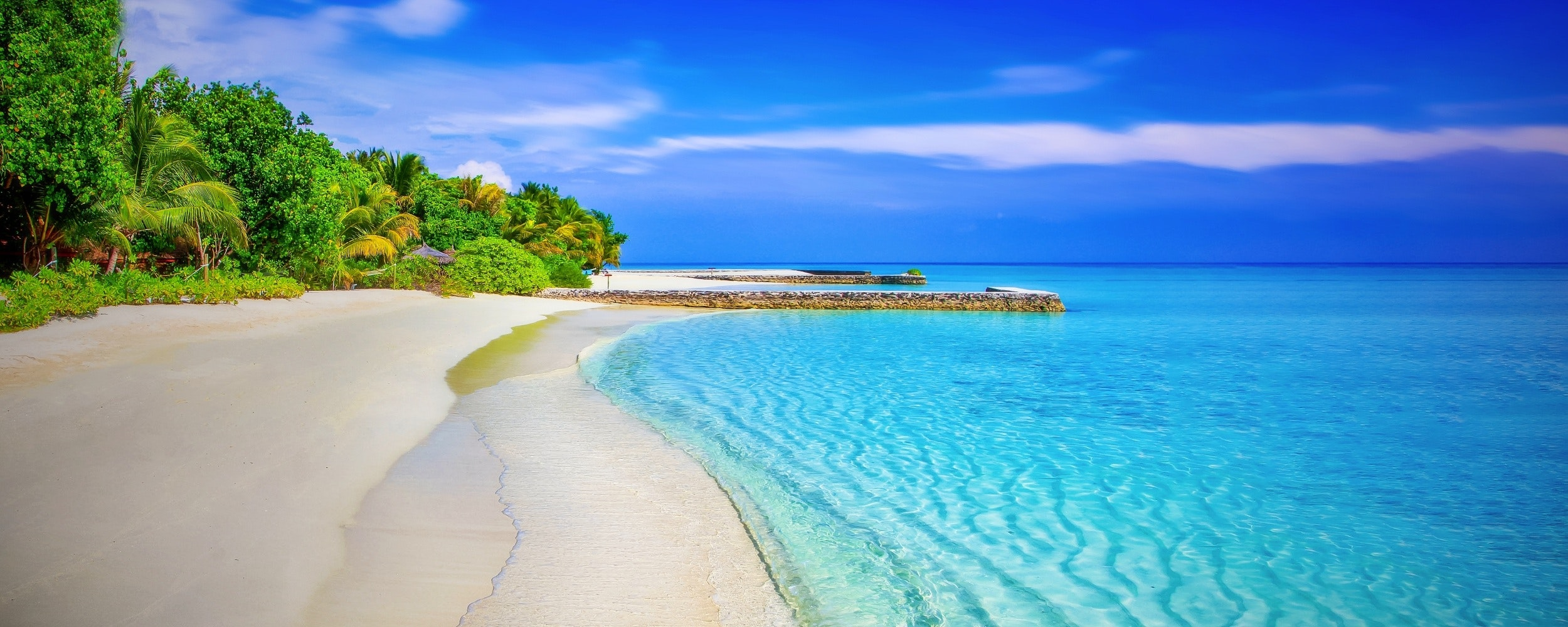 Scenic view of beach photo