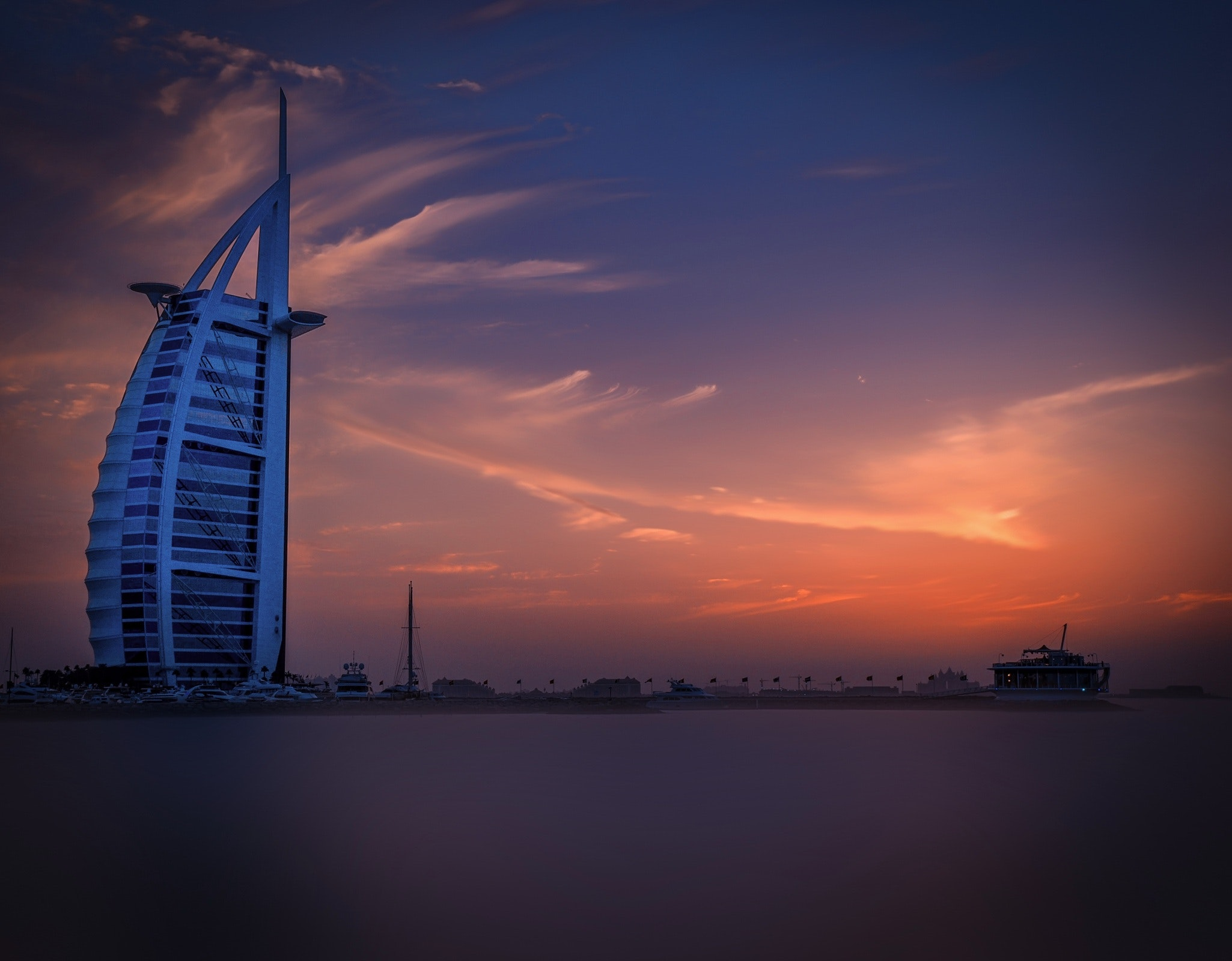 Scenic View of City at Sunset, Architectural design, Landscape, Light, Luxury, HQ Photo