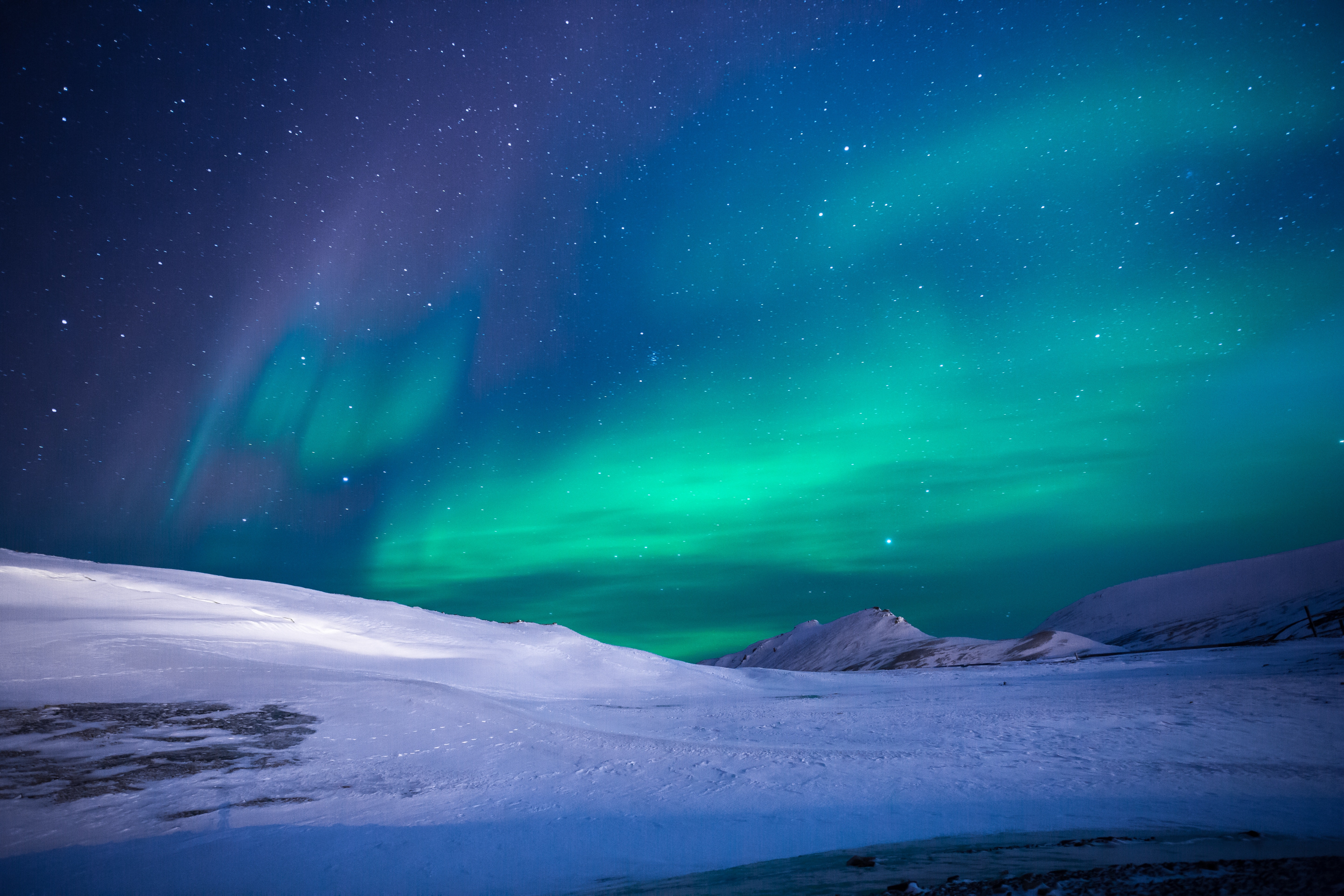 Scenic View of Dramatic Sky during Winter, Arctic, Night sky, Universe, Tourism, HQ Photo