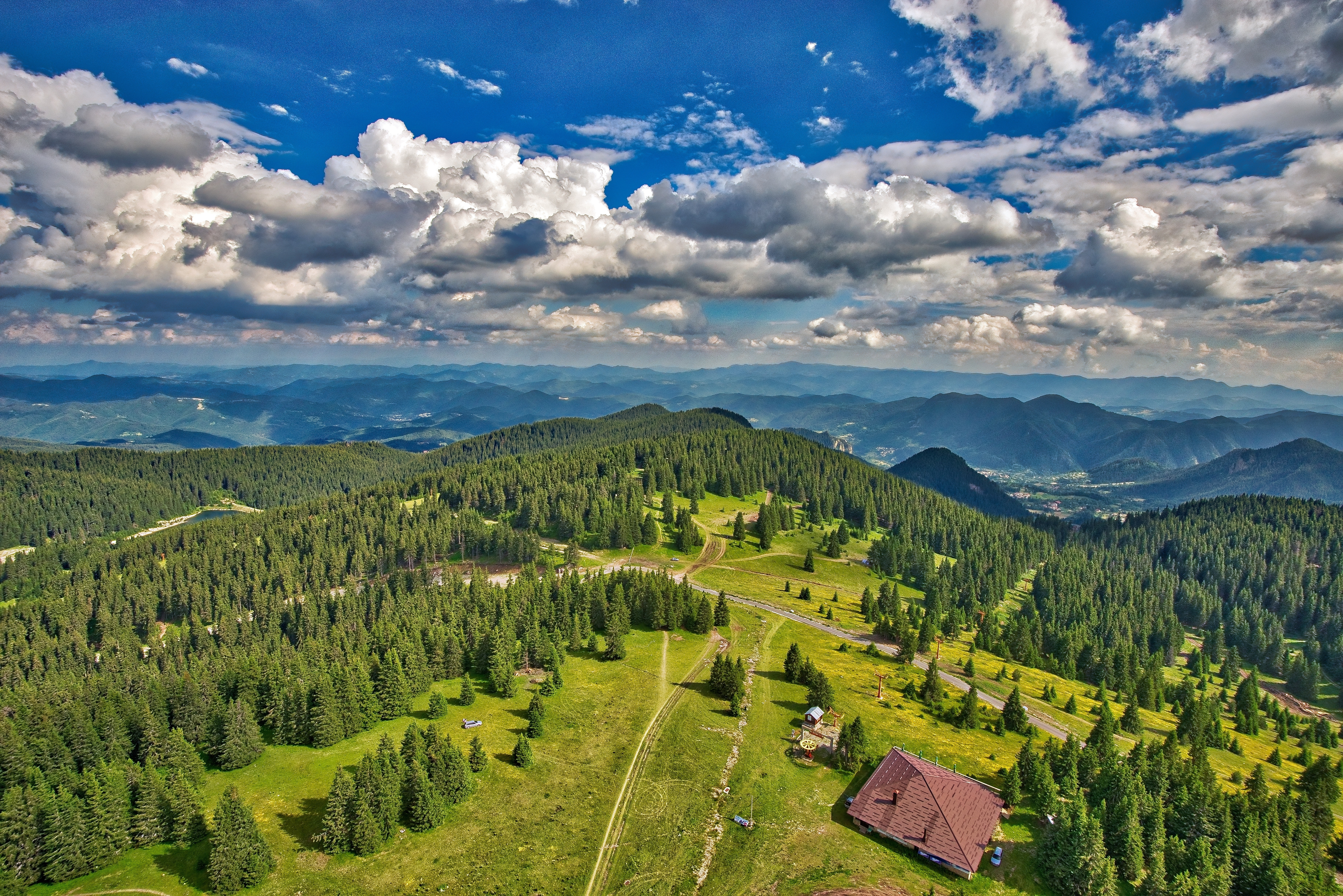 Scenic view of rural landscape photo