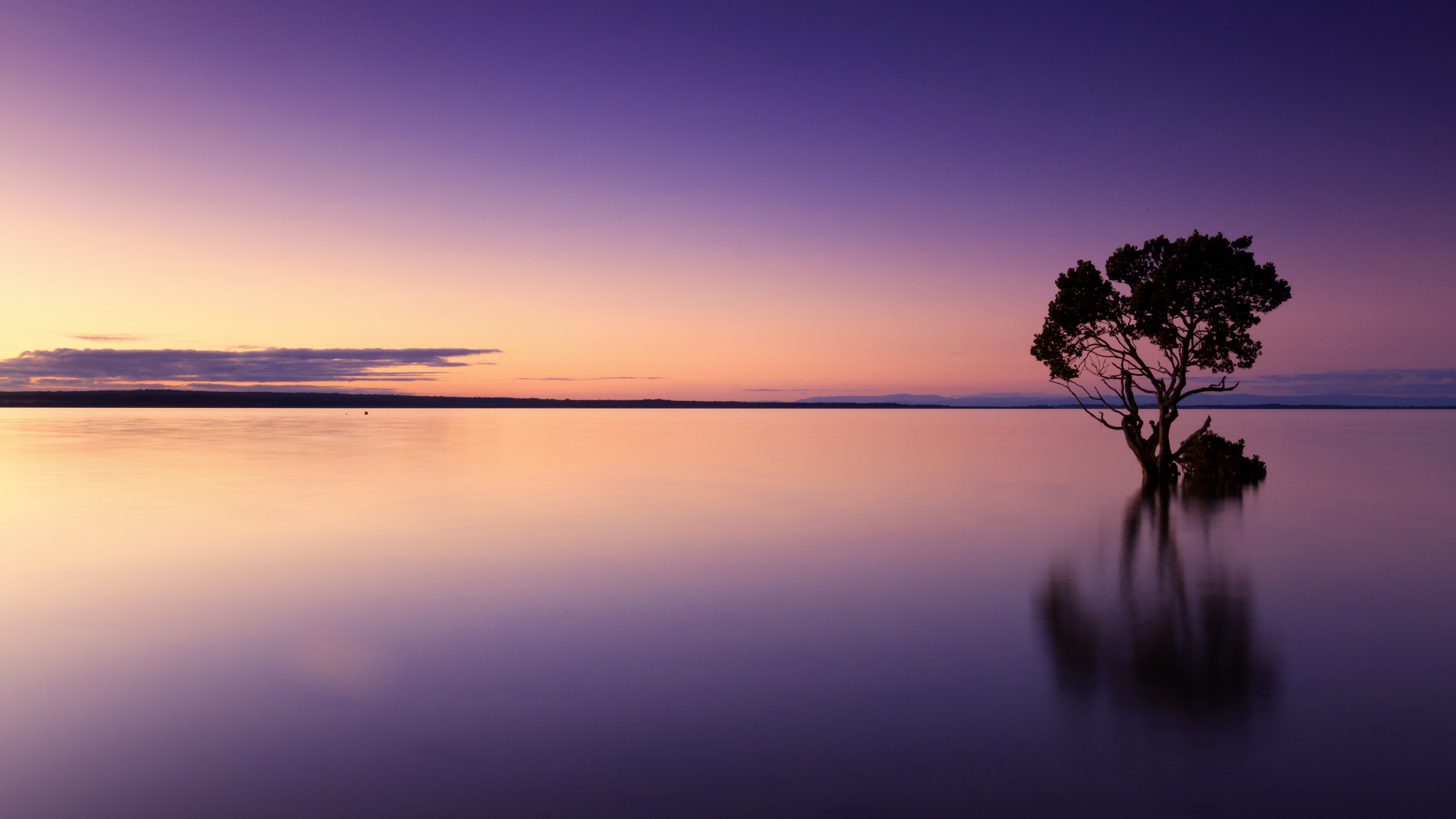 Scenic view of sea against sky at sunset photo