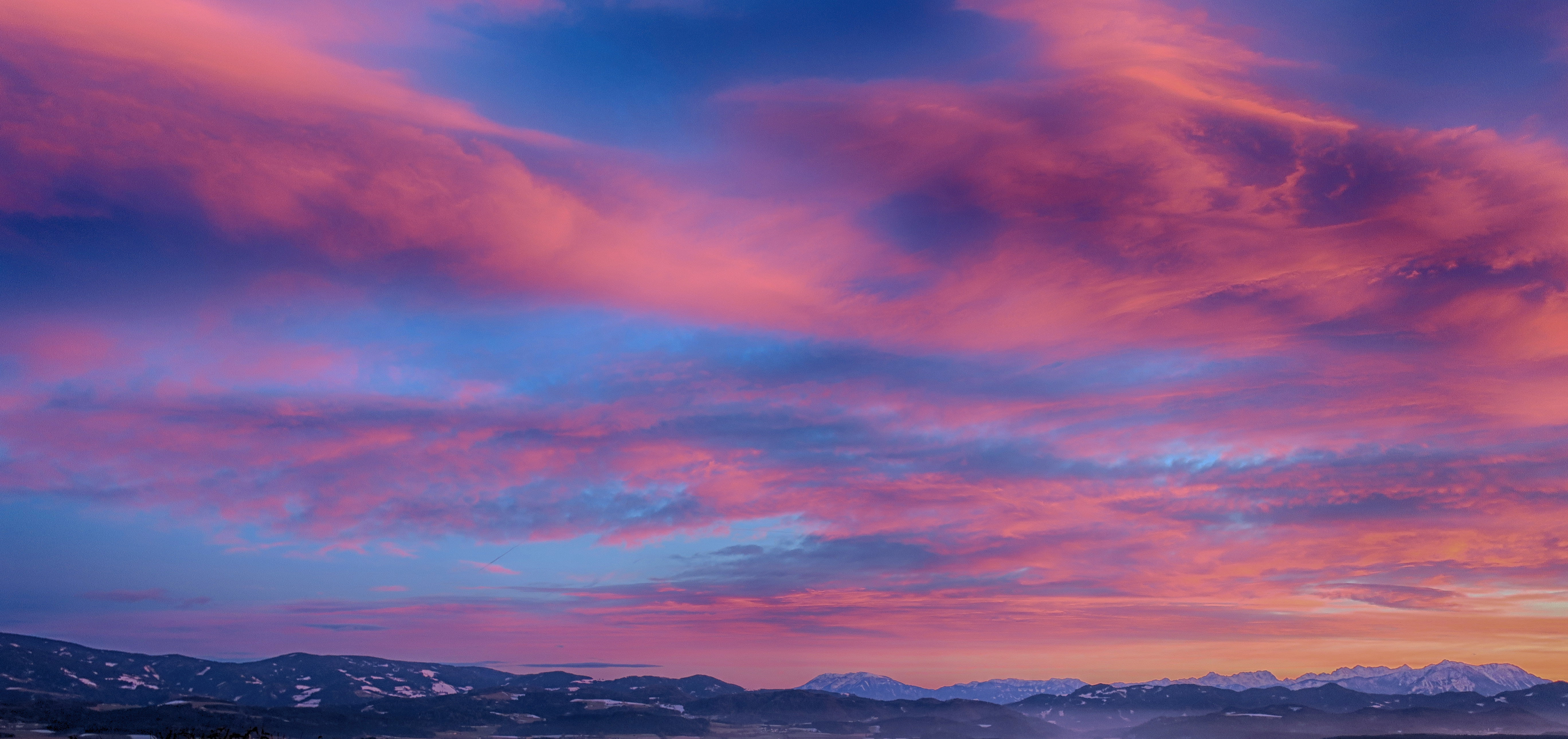 Scenic view of sky during dawn photo