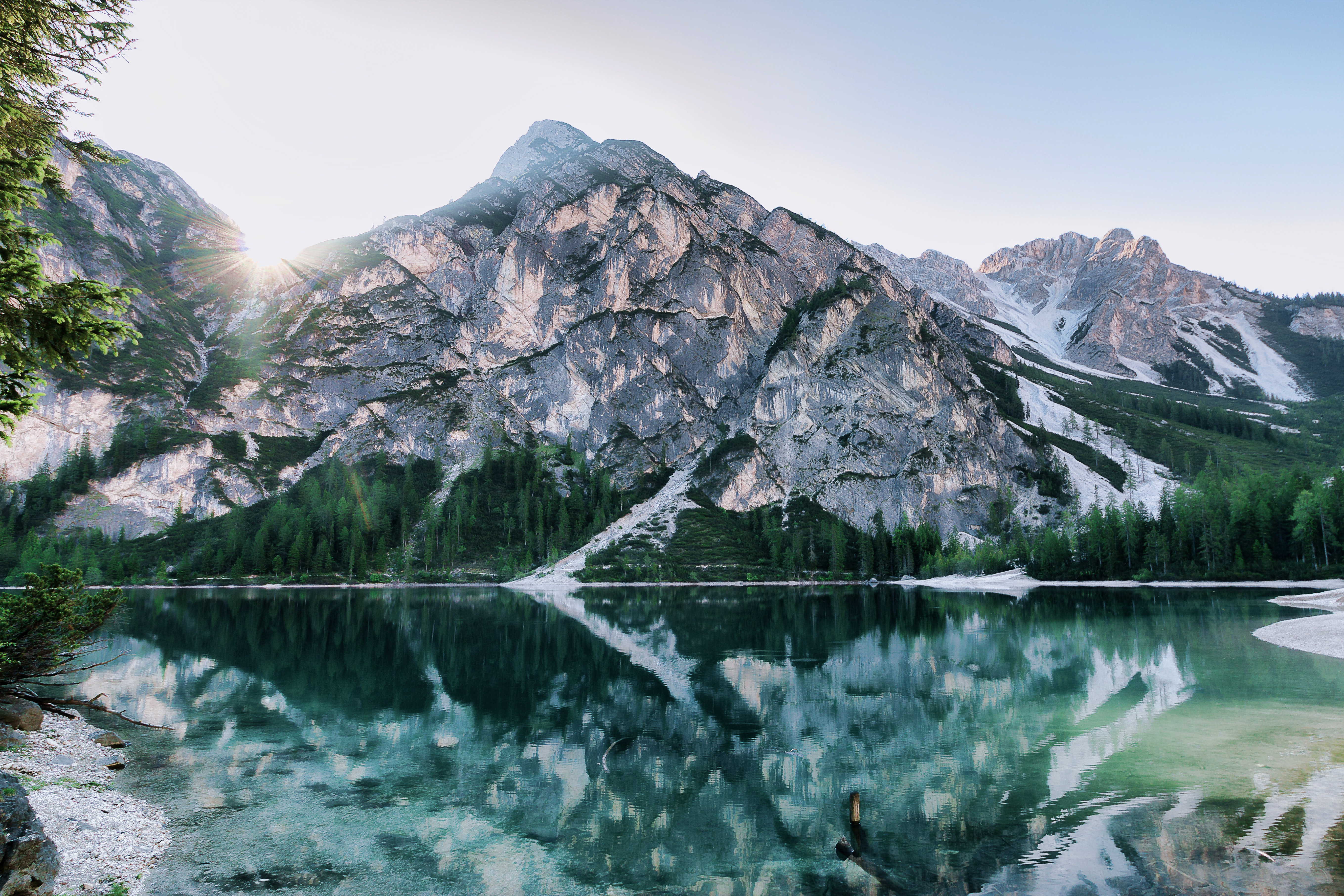 Scenic View of the Mountains, Lake, Scenic, Water, Trees, HQ Photo