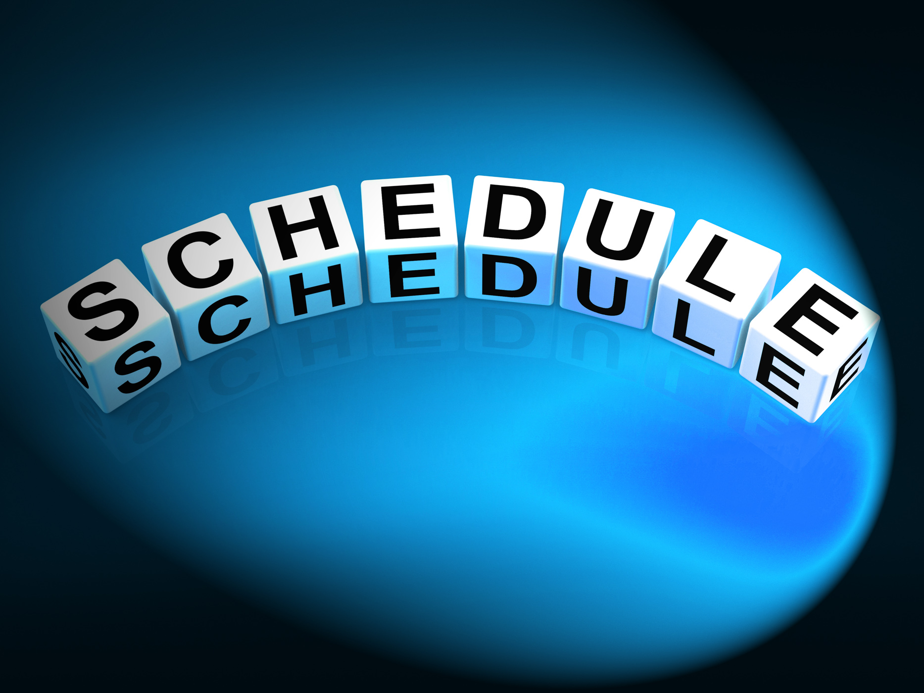 Schedule dice mean program itinerary and organize agenda photo