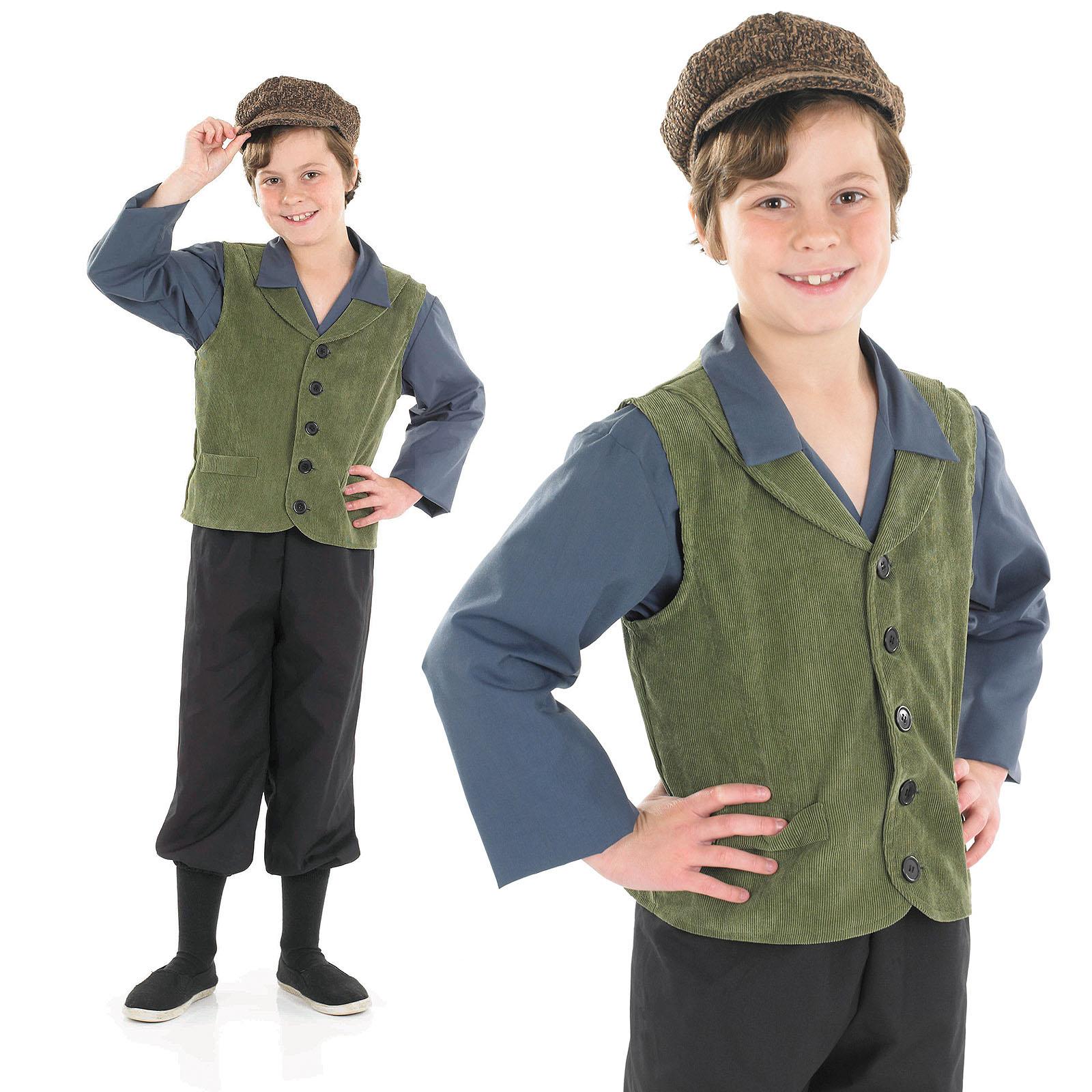 Childrens Victorian School Boy Fancy Dress Costume Oliver Book Week ...