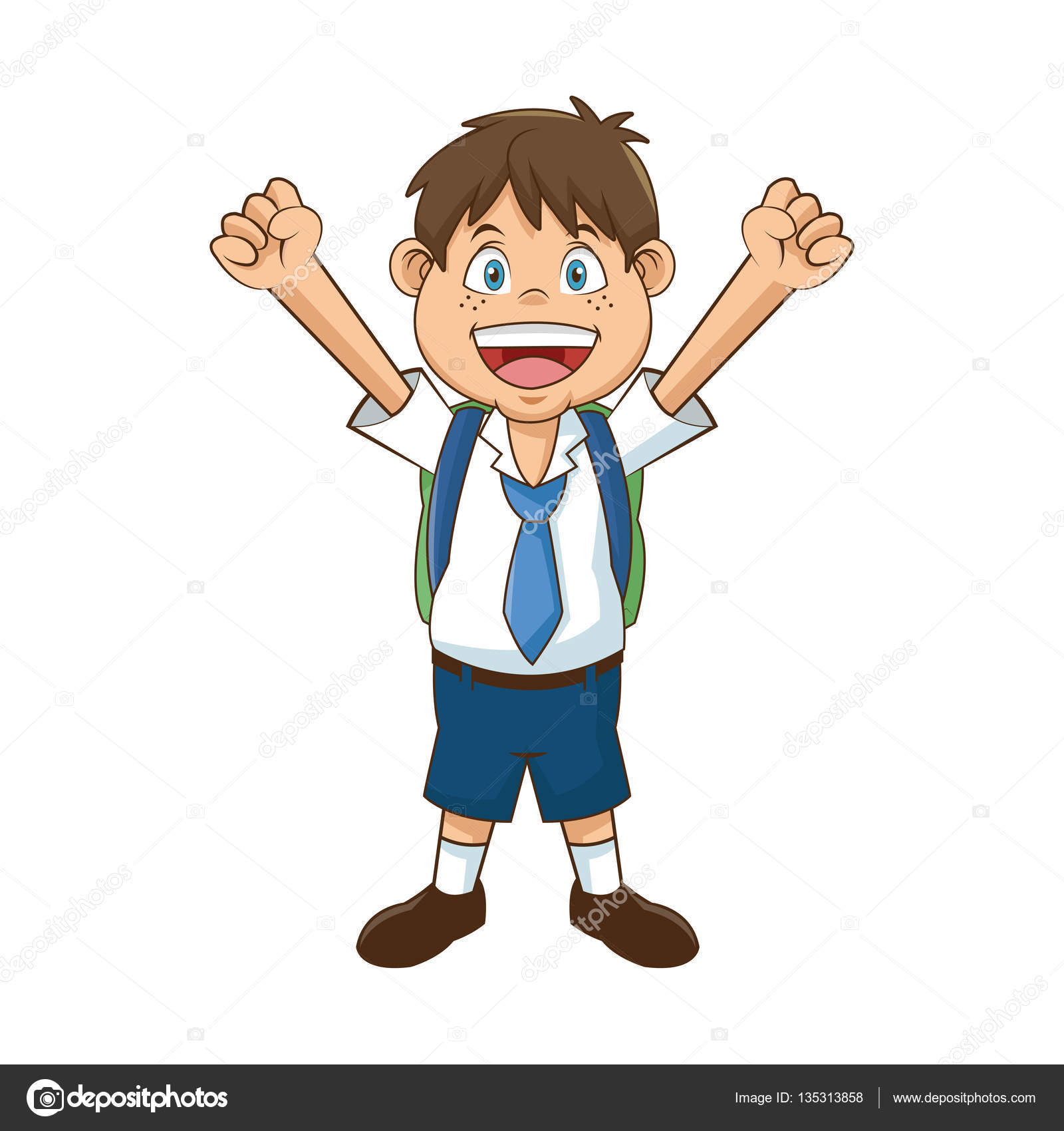 Isolated school boy design — Stock Vector © jemastock #135313858