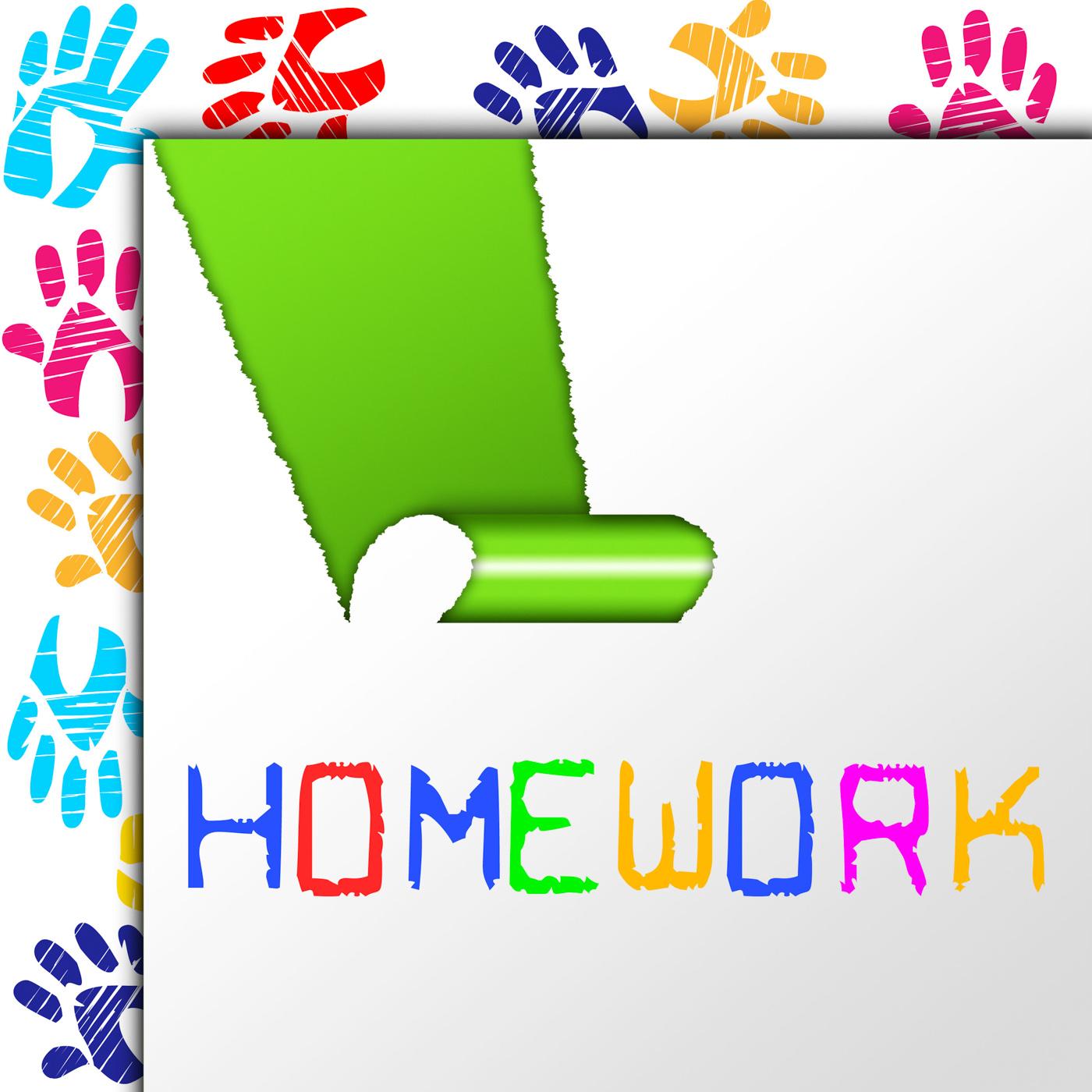 School homework shows university training and learn photo