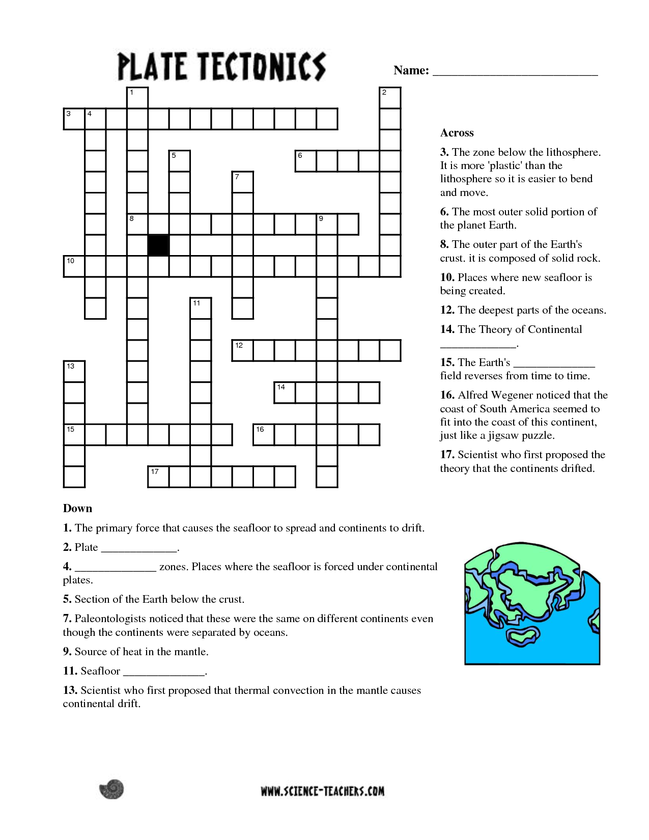 This is an image of Science Crossword Puzzle Printable pertaining to free blank crossword puzzle