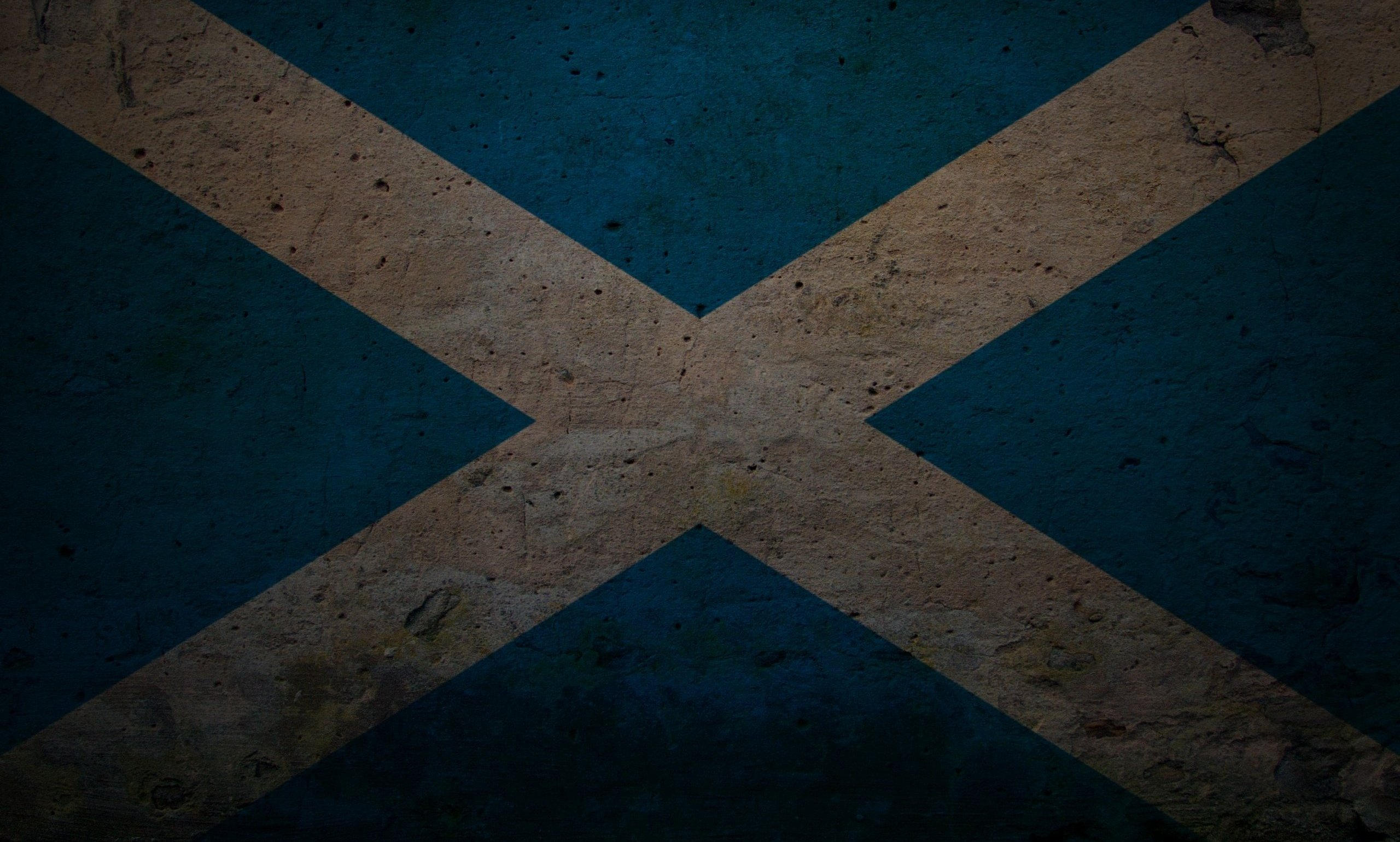 Grunge Flag Of Scotland - WallDevil
