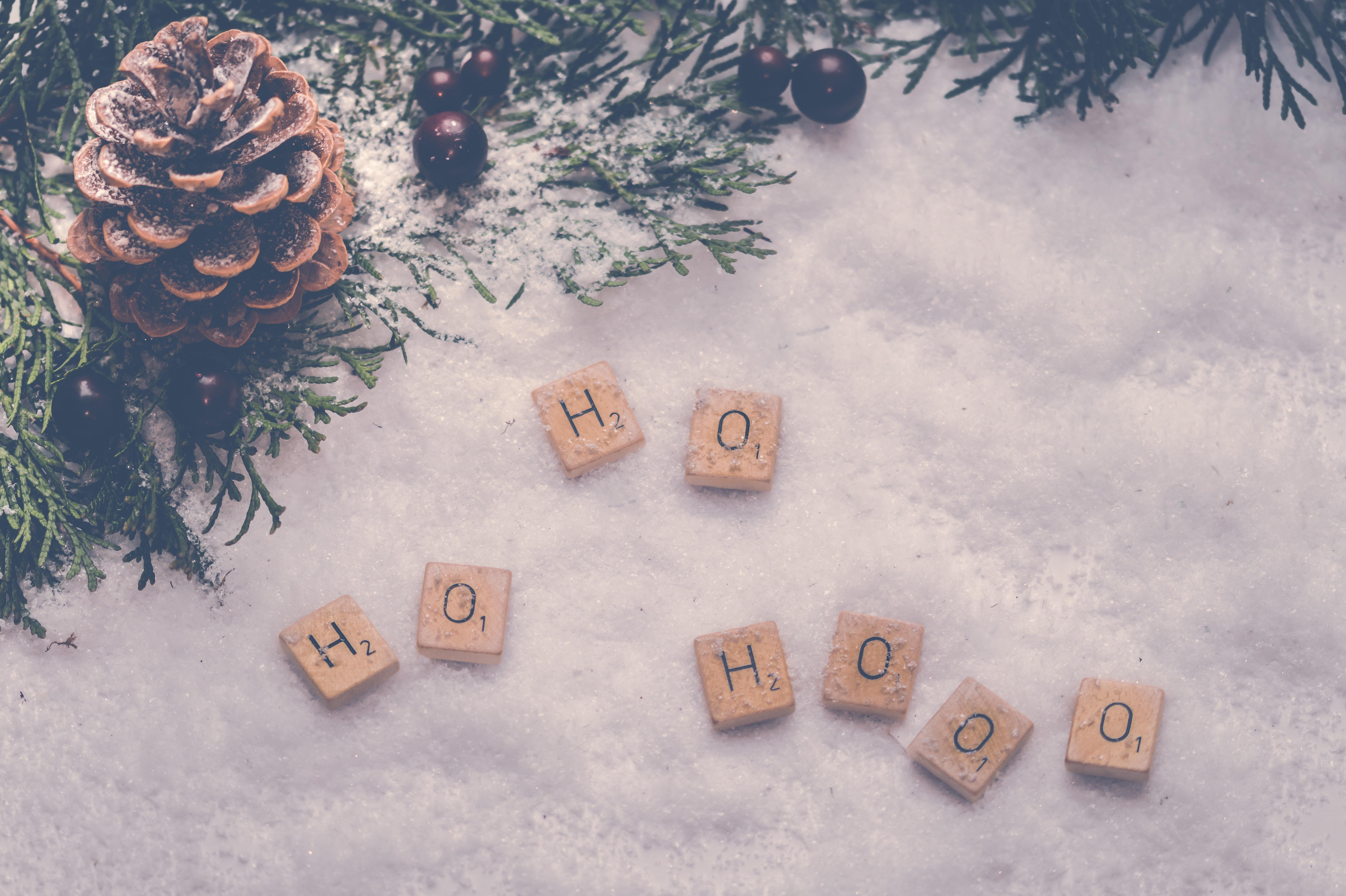 Scrabble Tile Letter, Background, Frozen, Weather, Snow, HQ Photo