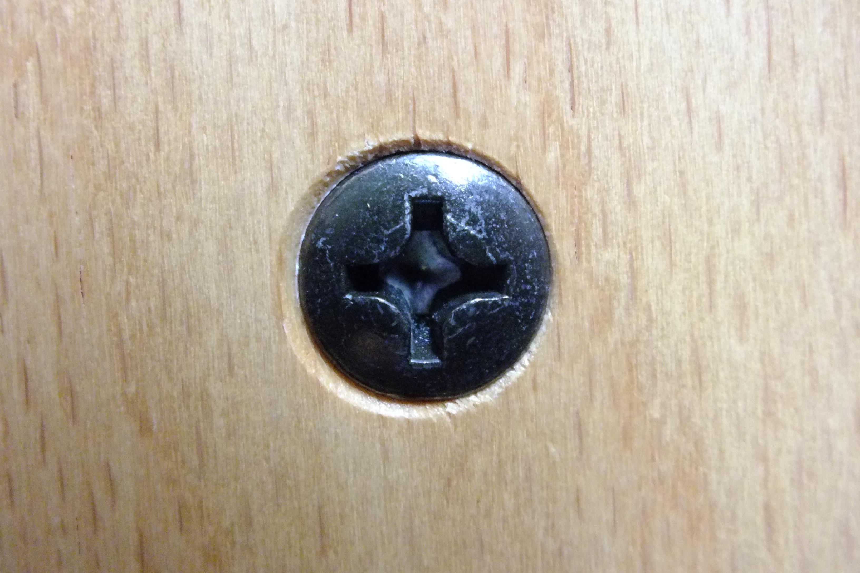 Screw, Head, Metallic, Star, Wood, HQ Photo