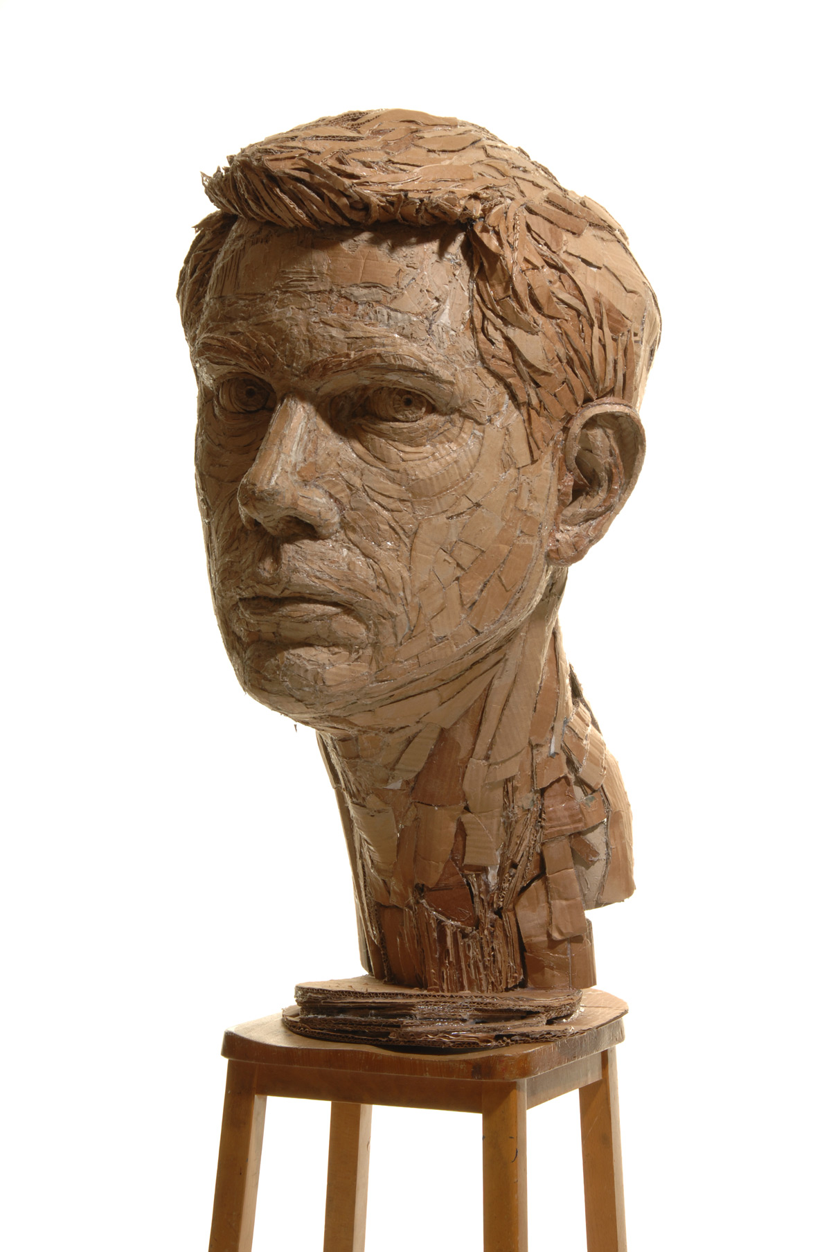 Figurative Sculptures Formed From Recycled Cardboard by James Lake ...