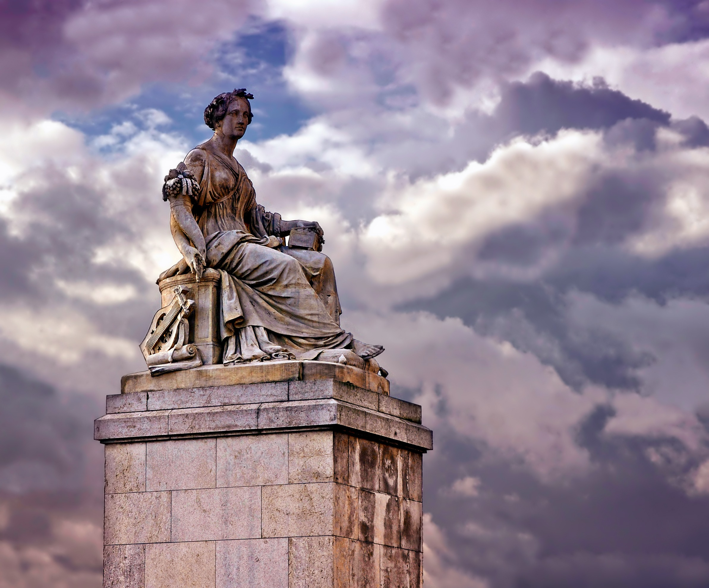 Sculpture in Paris, Statue, Sculpture, Paris, Carved, HQ Photo