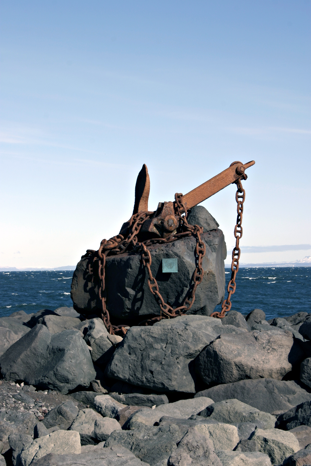 Sculpture of anchor and chains, Anchor, Art, Chains, Coast, HQ Photo