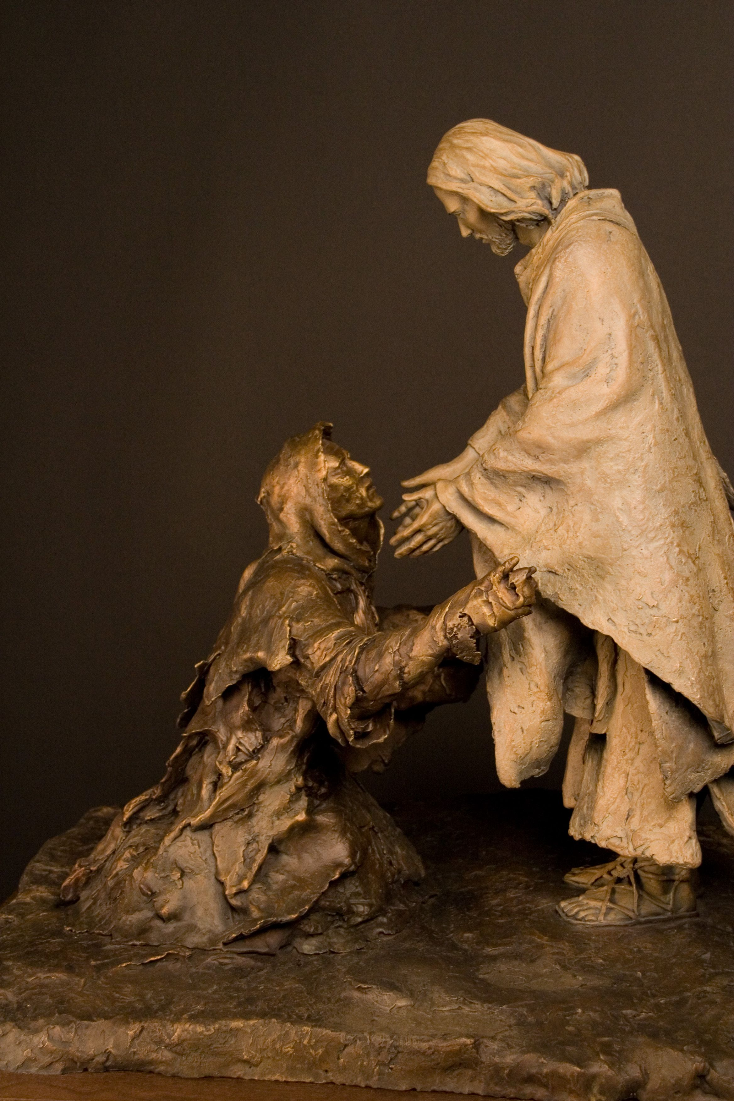Be Thou Clean | Bronze Sculptures of Jesus Christ | Christian ...