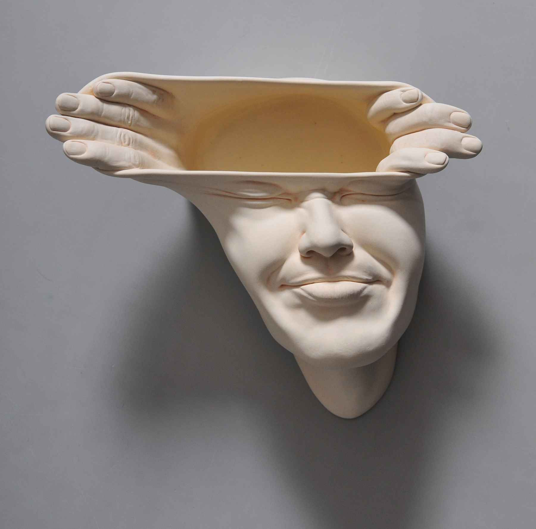 Open Mind: New Warped Face Sculptures by Johnson Tsang | Colossal