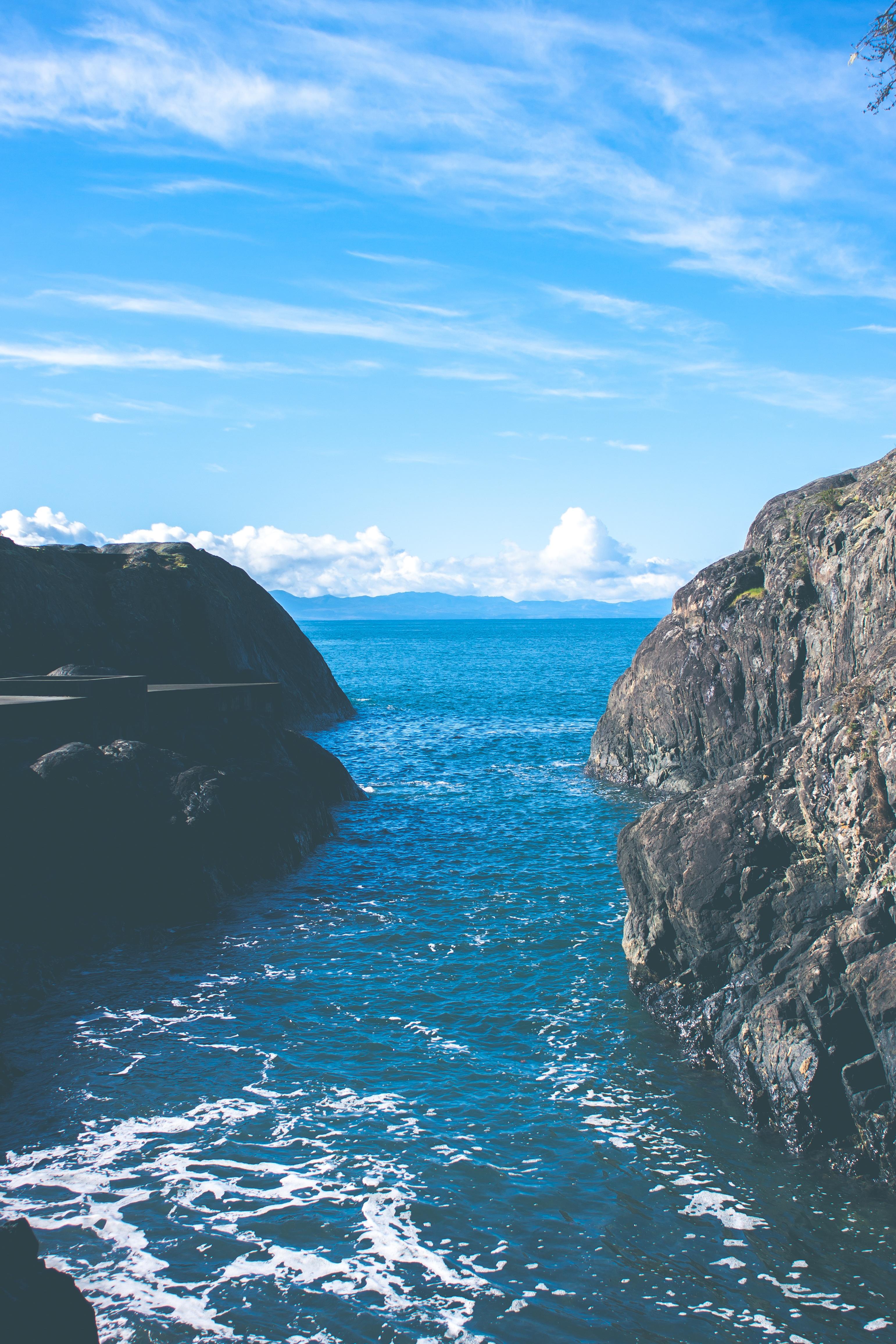 Sea, Beach, Blue, Deep, Flow, HQ Photo