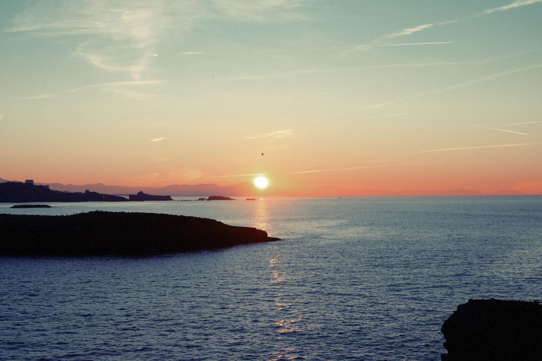 Sea, Sky, Smoke, Sun, Water, HQ Photo