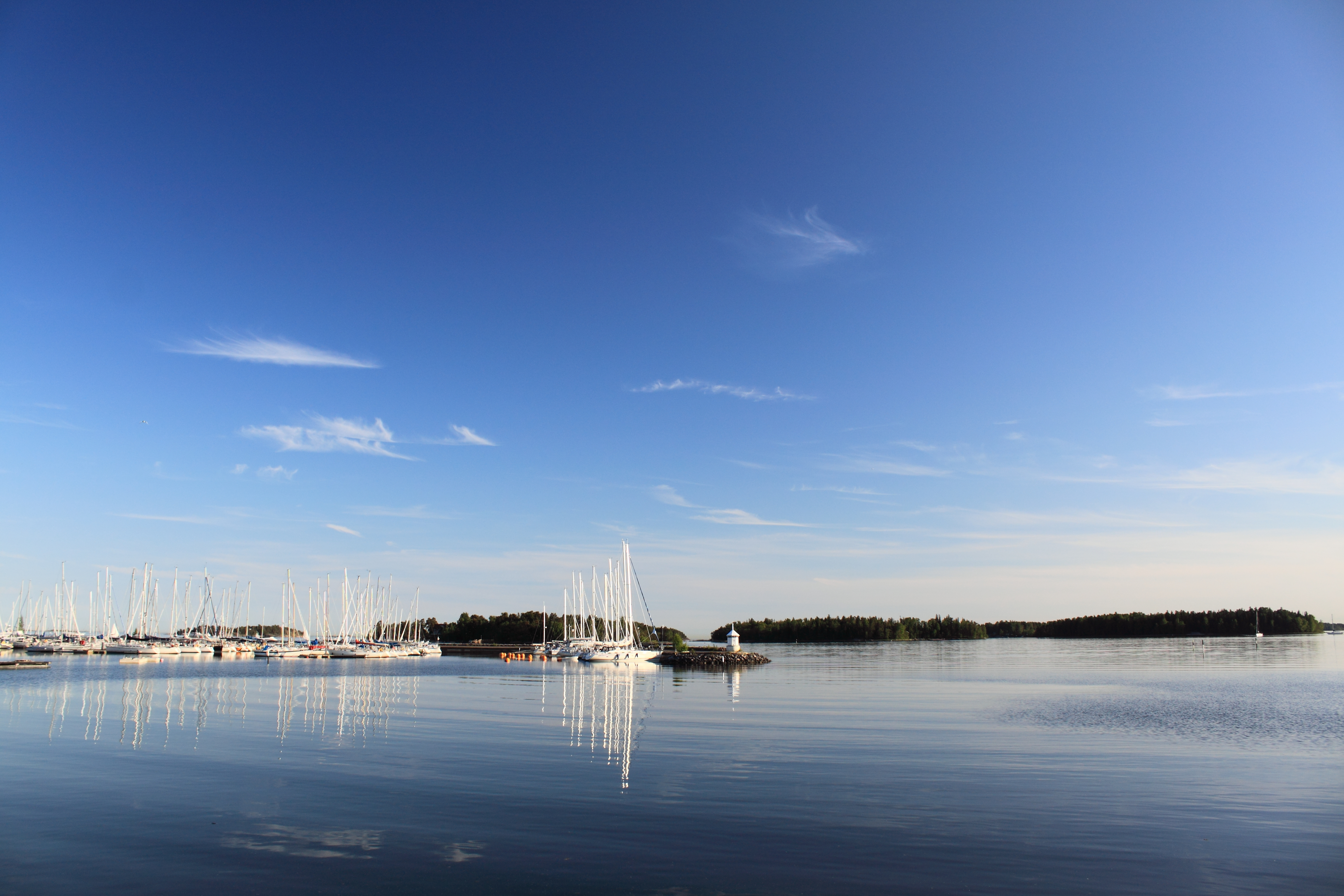 Sea, Blue, Boats, Harbor, Sailboats, HQ Photo