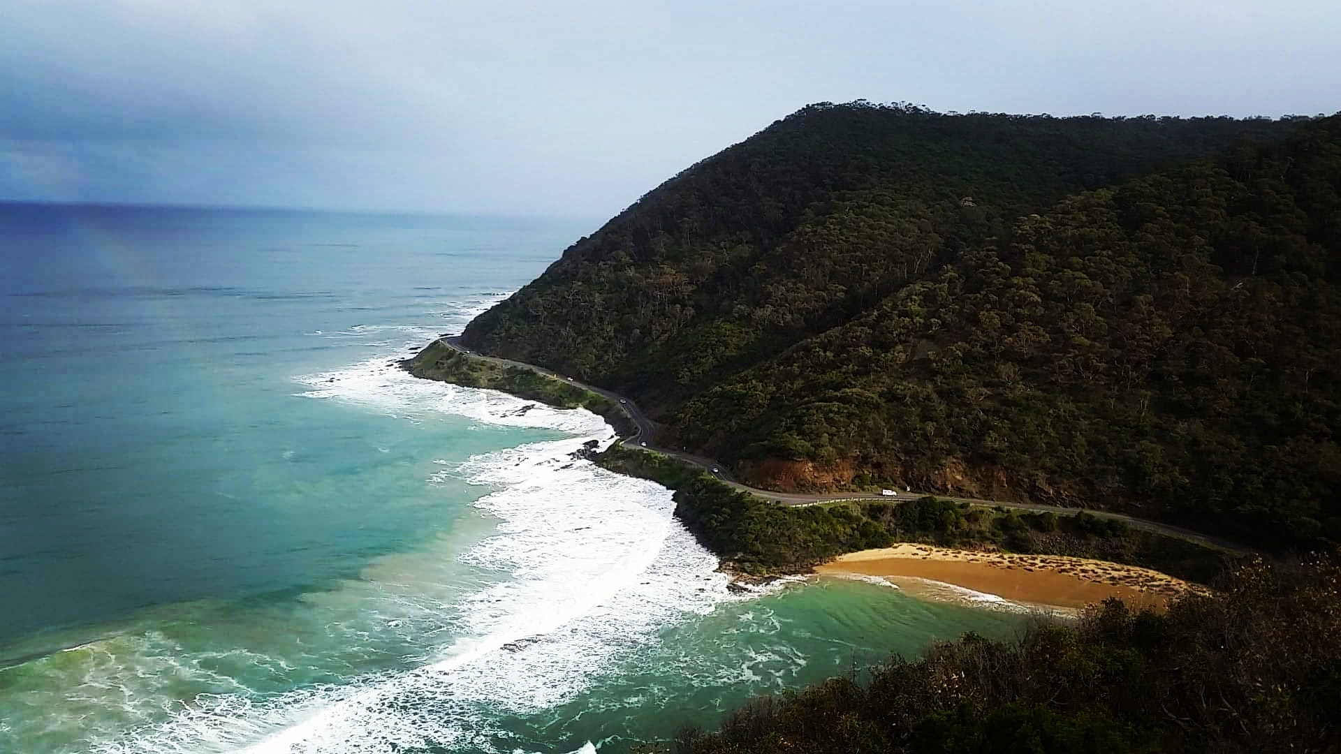 Sea Cliff at Daytime, Beach, Water, Trees, Sky, HQ Photo