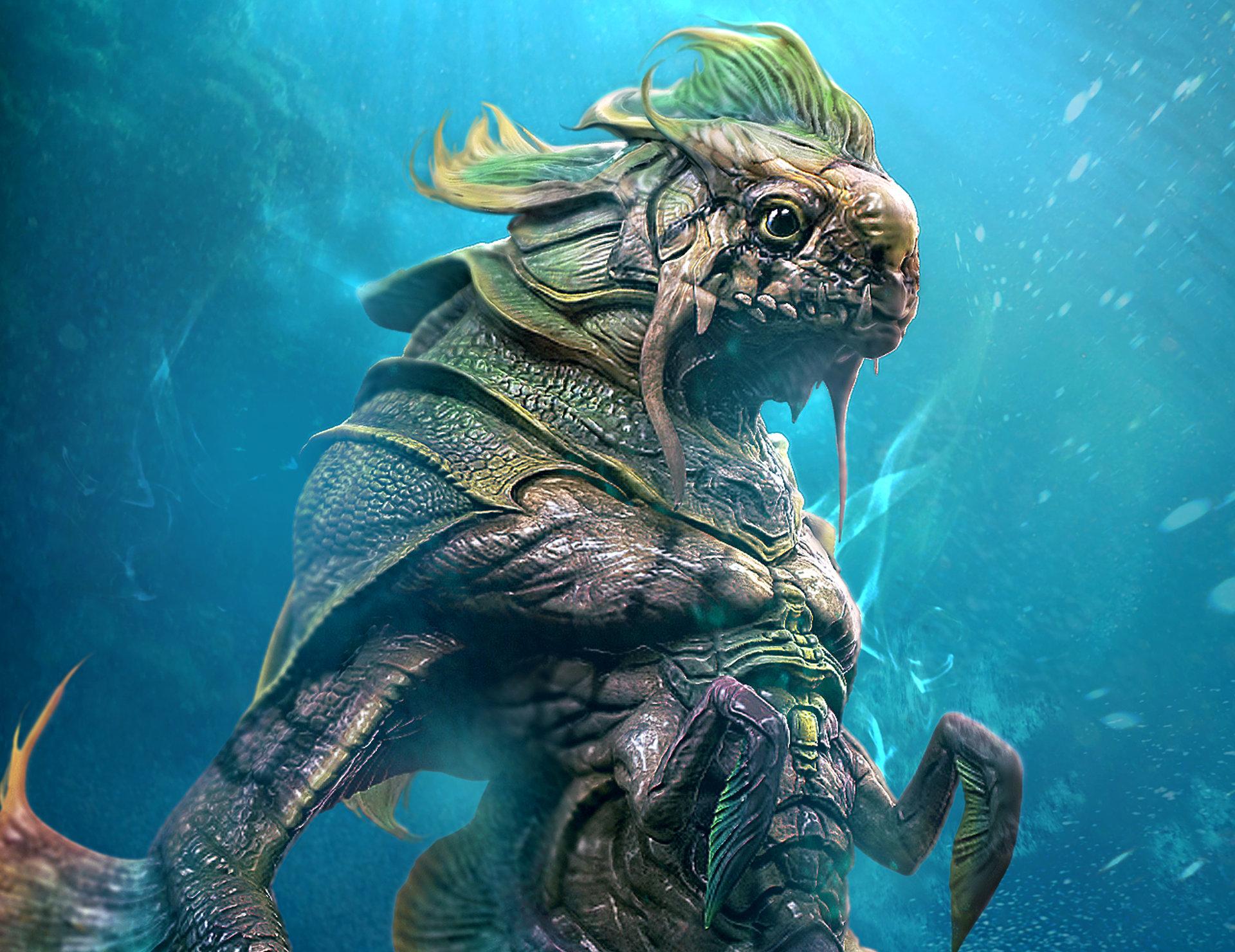 ArtStation - Sea Creature, Derrick Song