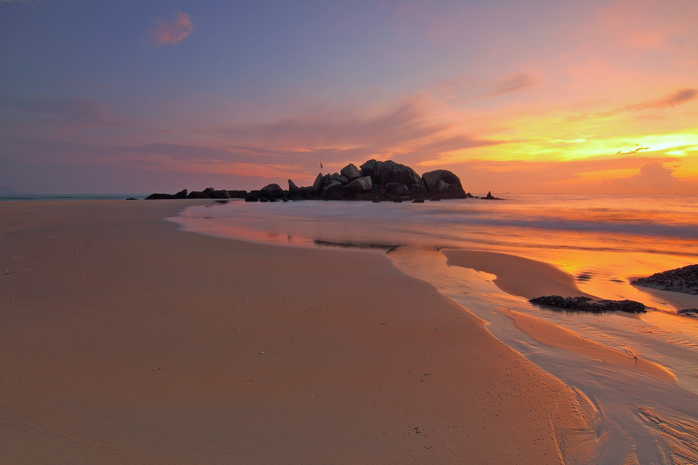 Sea Shore View on Sunset, Beach, Seascape, Water, Vacation, HQ Photo