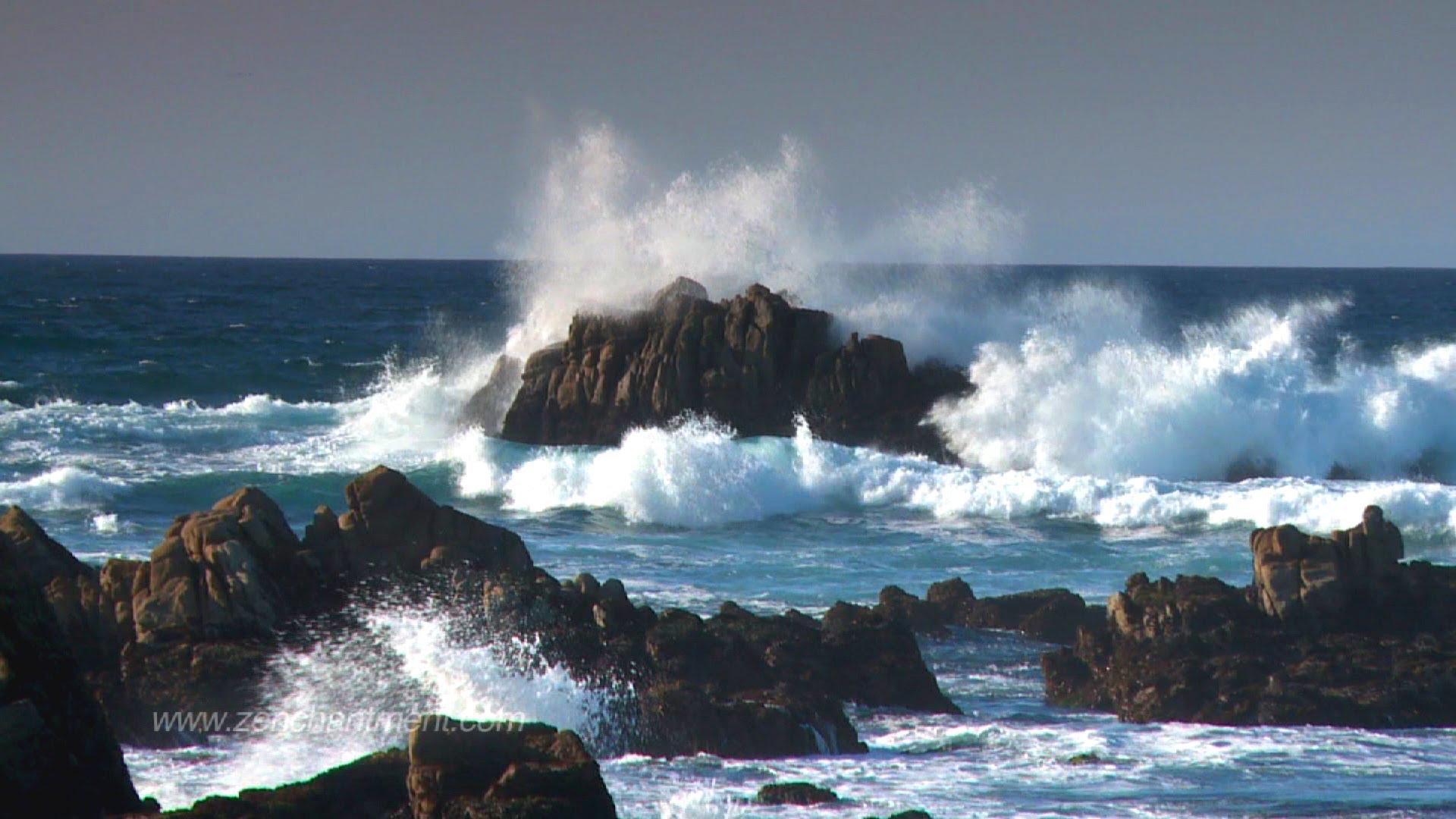 Zen Ocean Waves - Ocean Sounds Only (NO MUSIC) Aquatic Dream Therapy ...