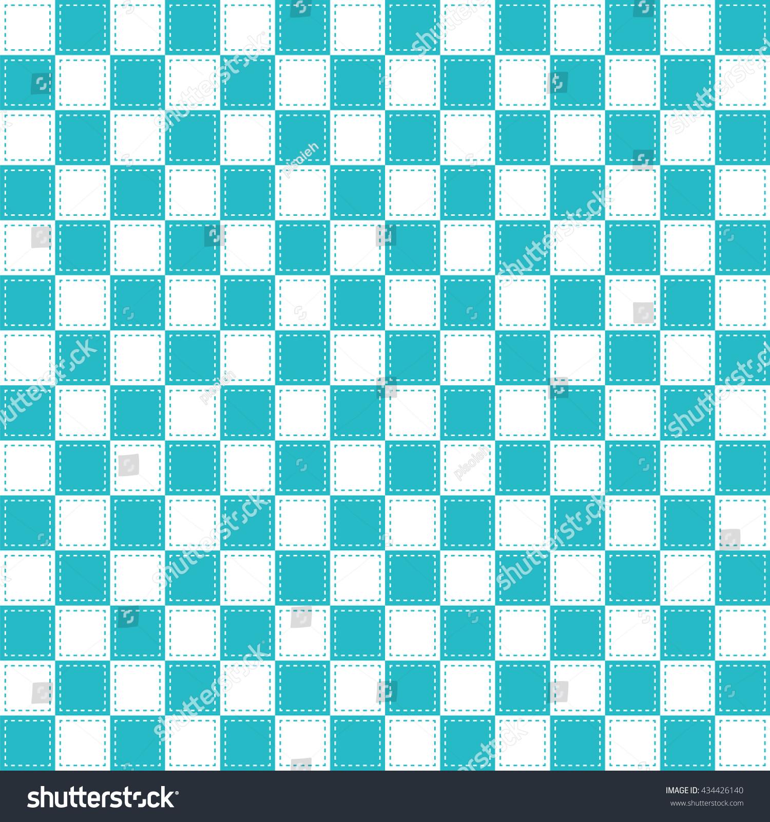 Green White Checkered Background Seamless Stock Vector 434426140 ...
