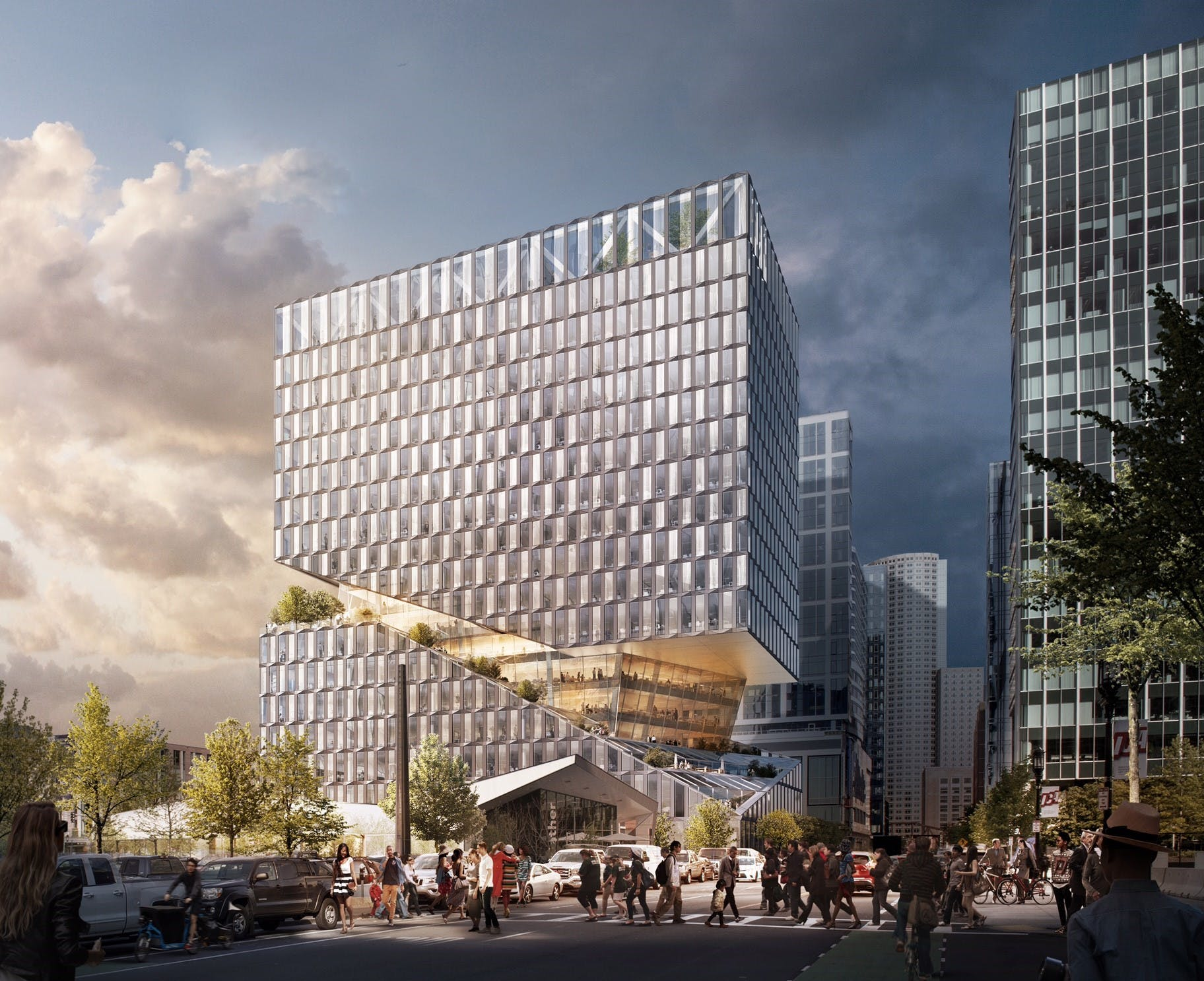 OMA embarks on first Boston commission with 88 Seaport mixed-use ...