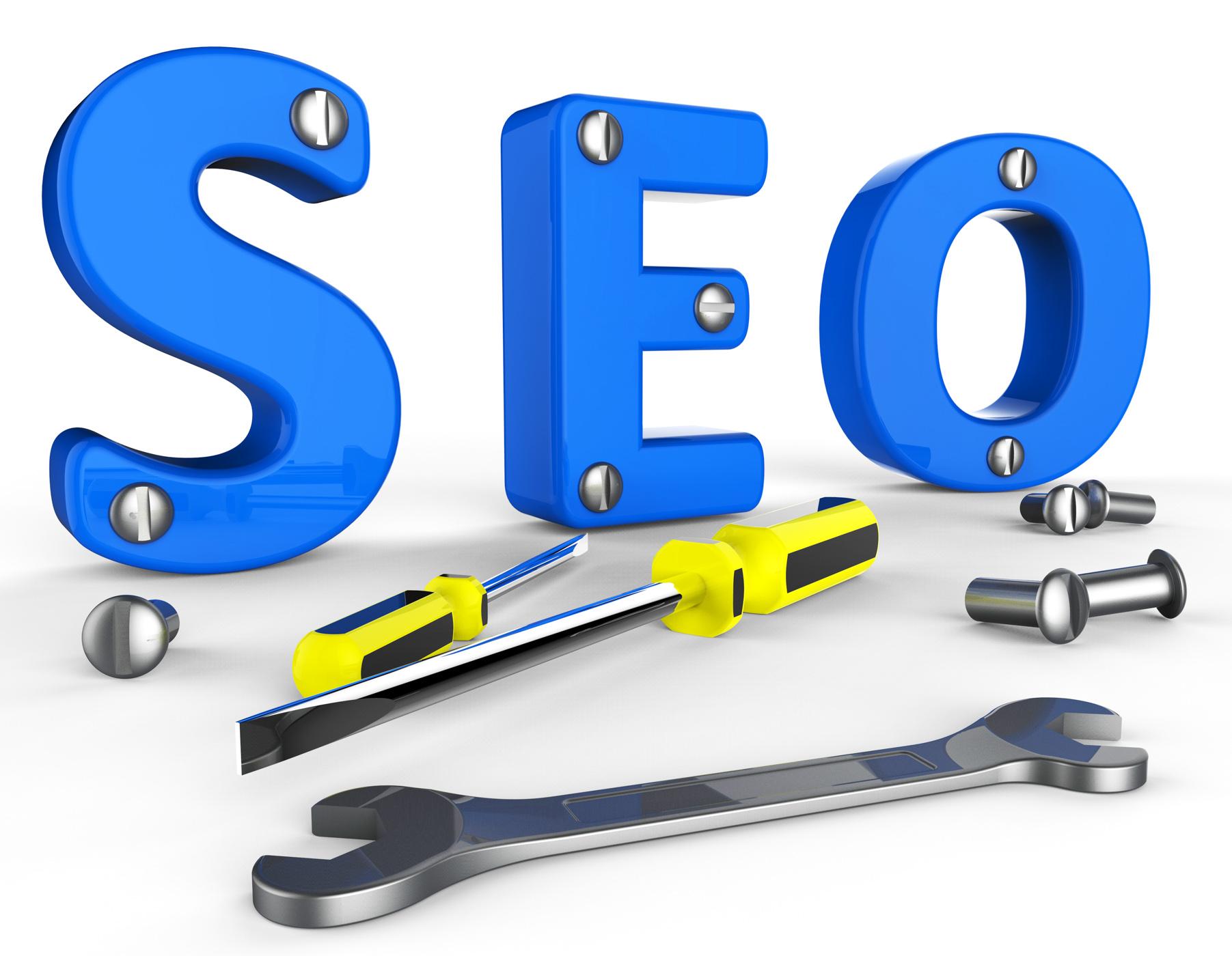 Search engine optimization indicates gathering data and information photo