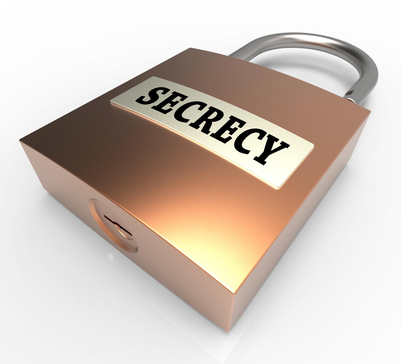 Secrecy padlock represents classified secret 3d rendering photo