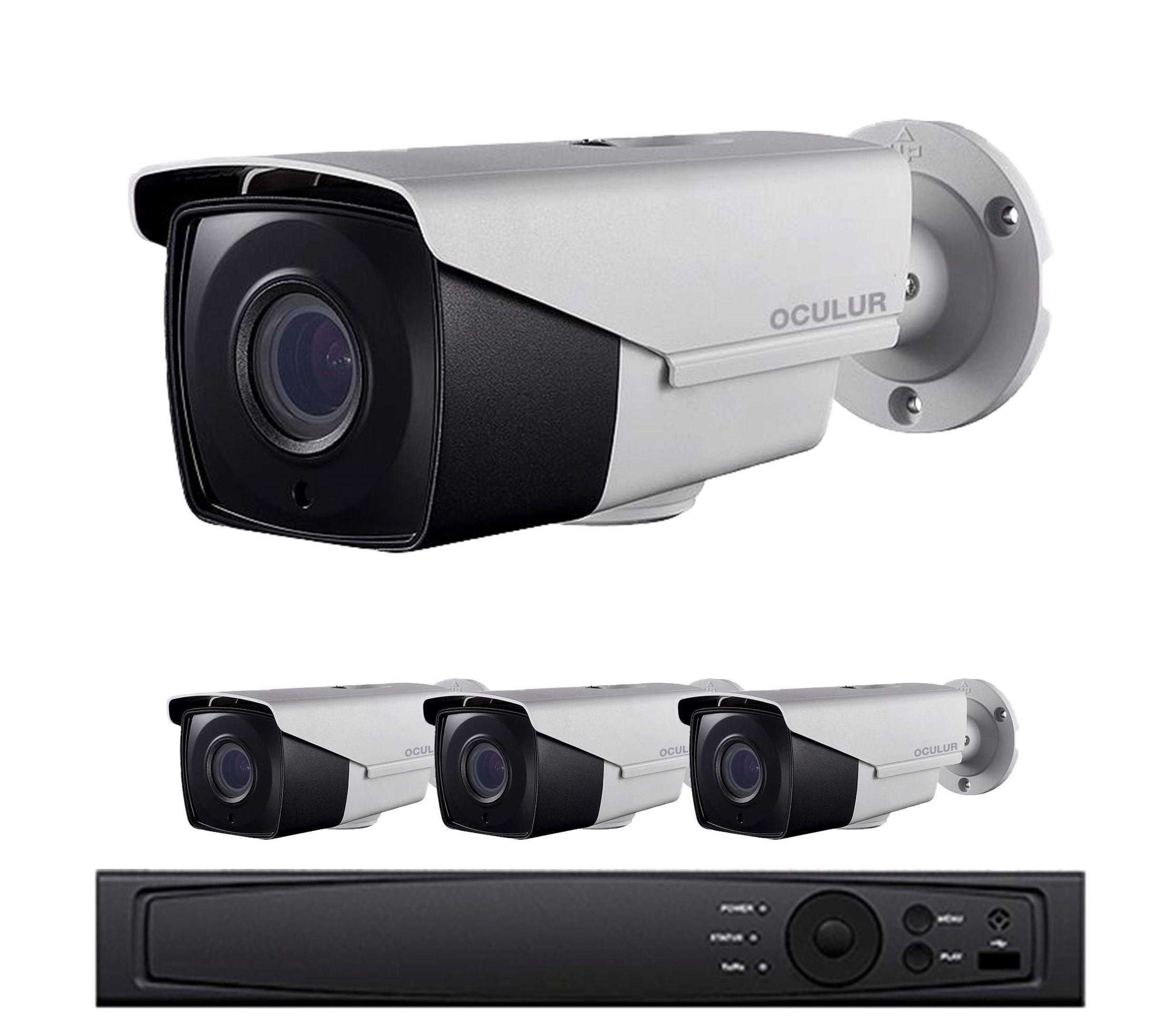 4-Camera 1080p Full HD CCTV Bullet Security Camera System - 4 ...