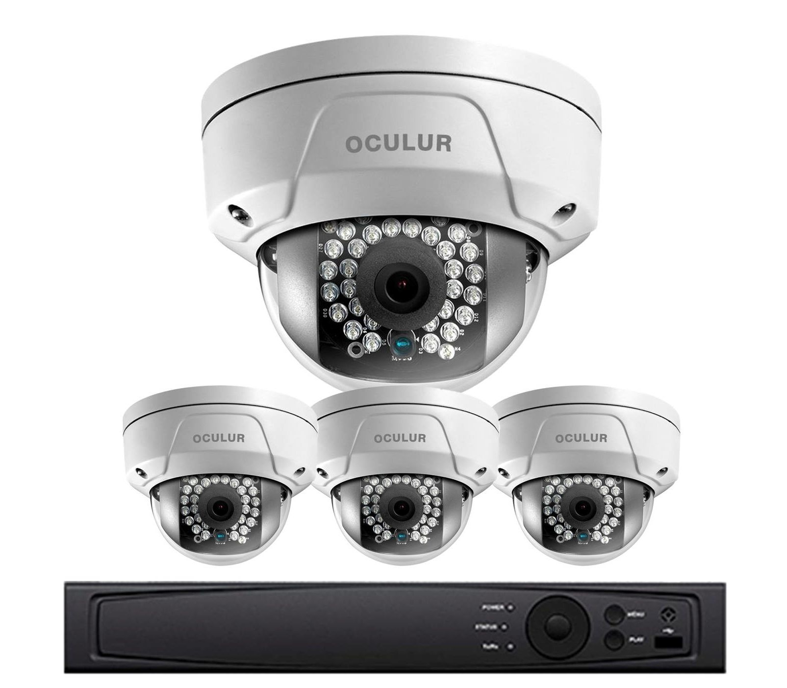 Retail Security Camera System - 2K Video Resolution, 4 x Vandal ...