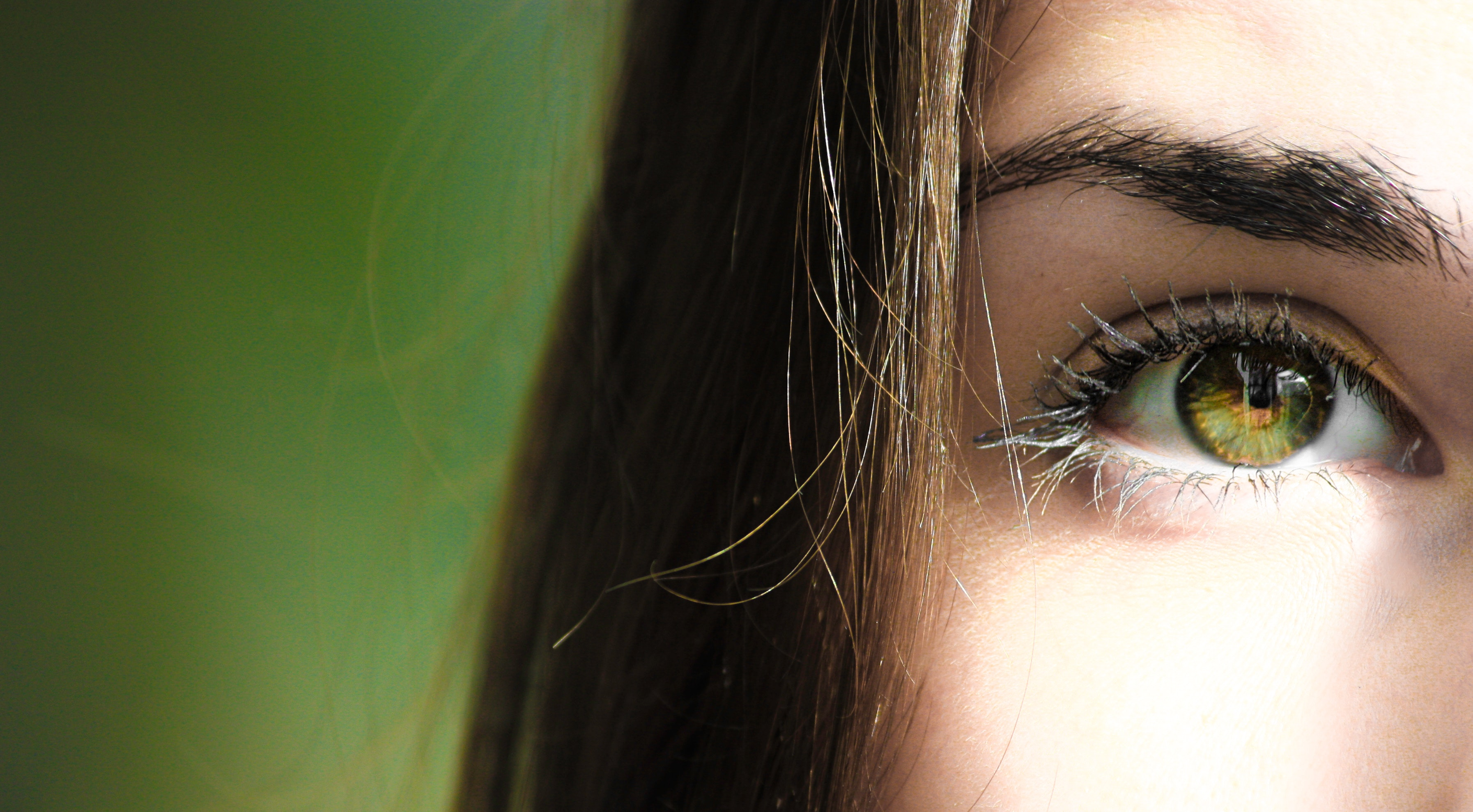 Selective Focus Half-face Closeup Photography of Female's Green Eyes, Photoshoot, Person, Skin, Woman, HQ Photo