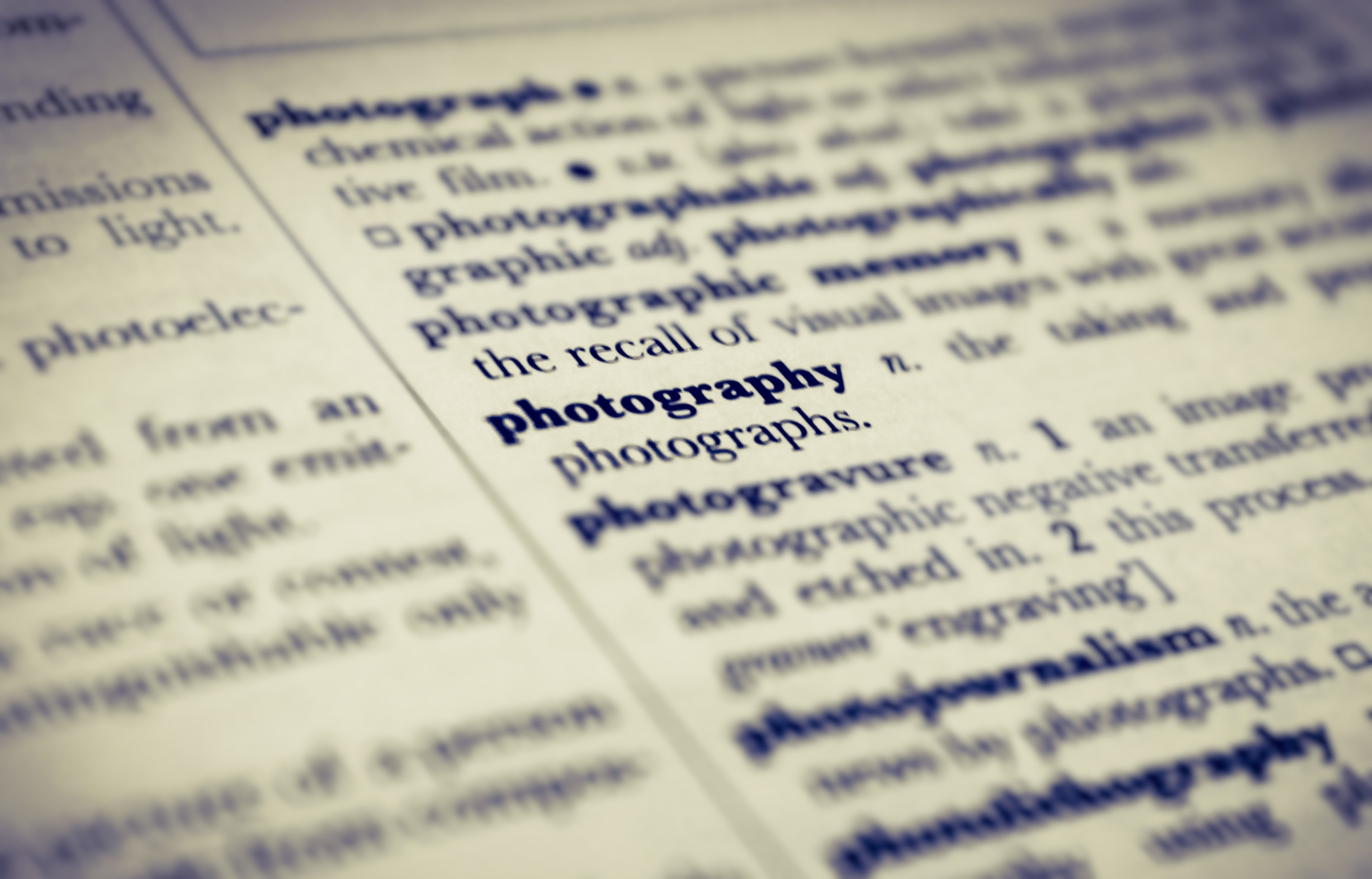 Selective photo of photography