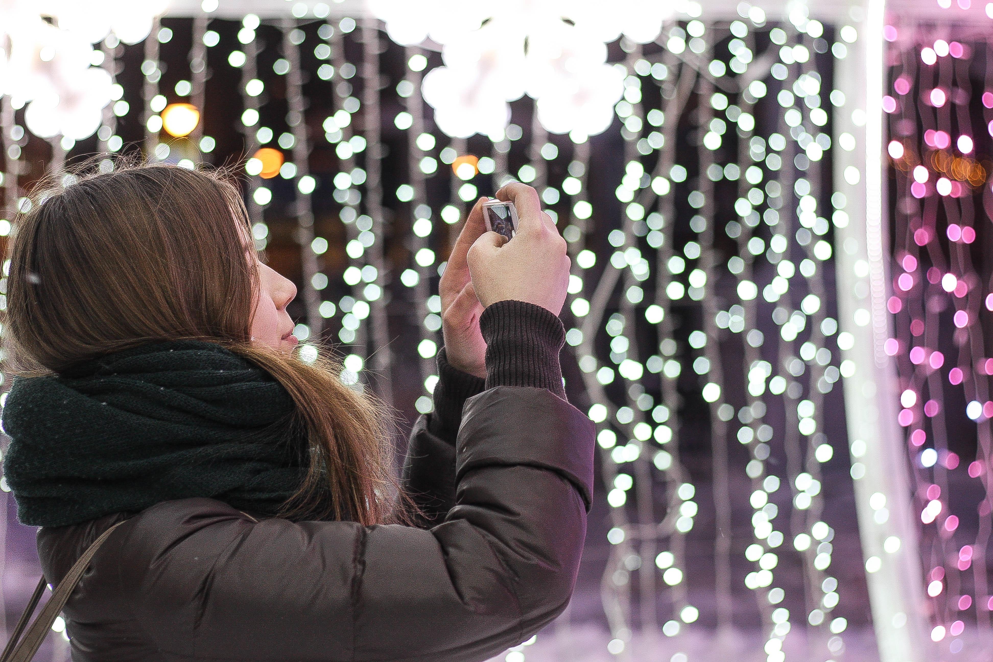 Selfie, Season, Santa, Tree, Winter, HQ Photo
