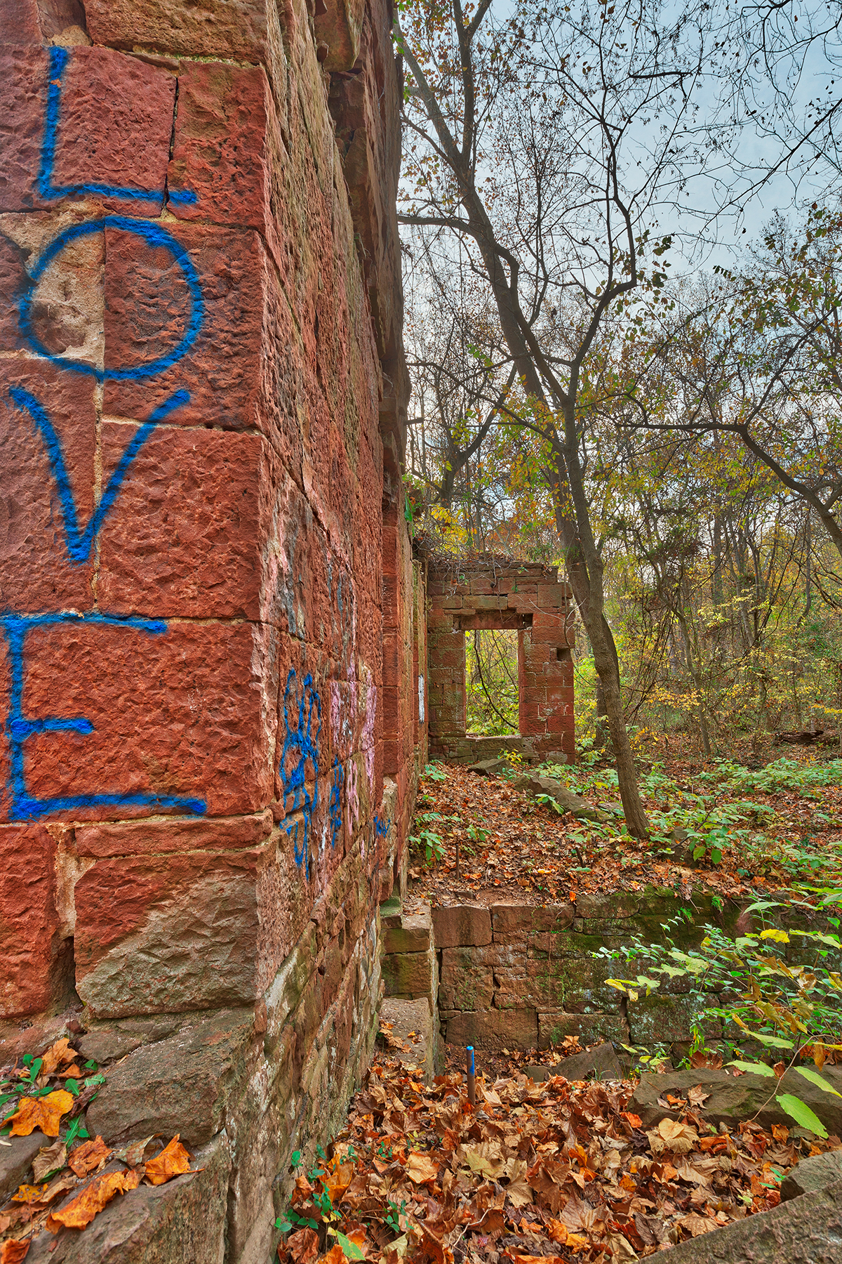 Seneca mill love ruins - hdr photo