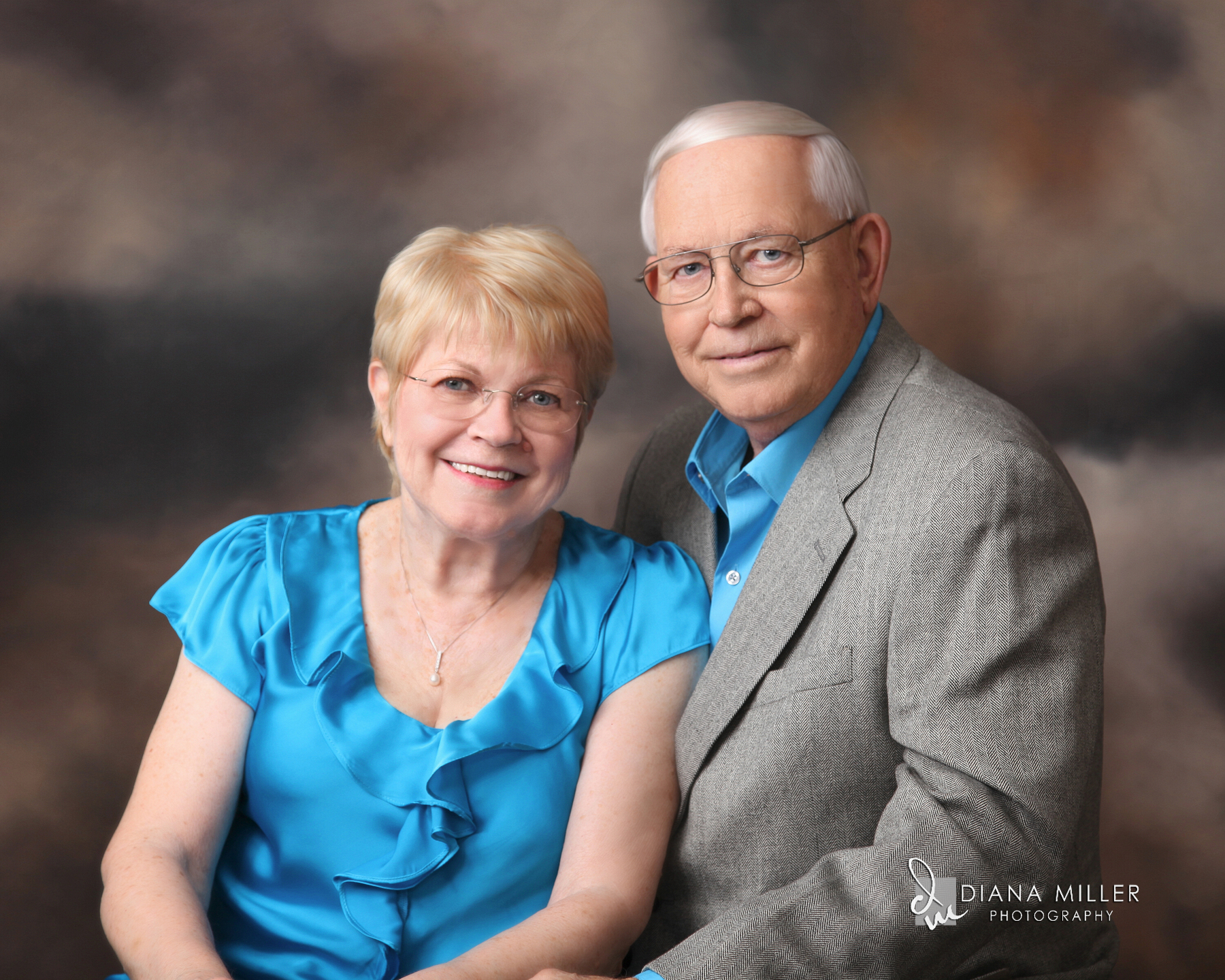 senior citizen couple's portrait | Diana Miller Photography