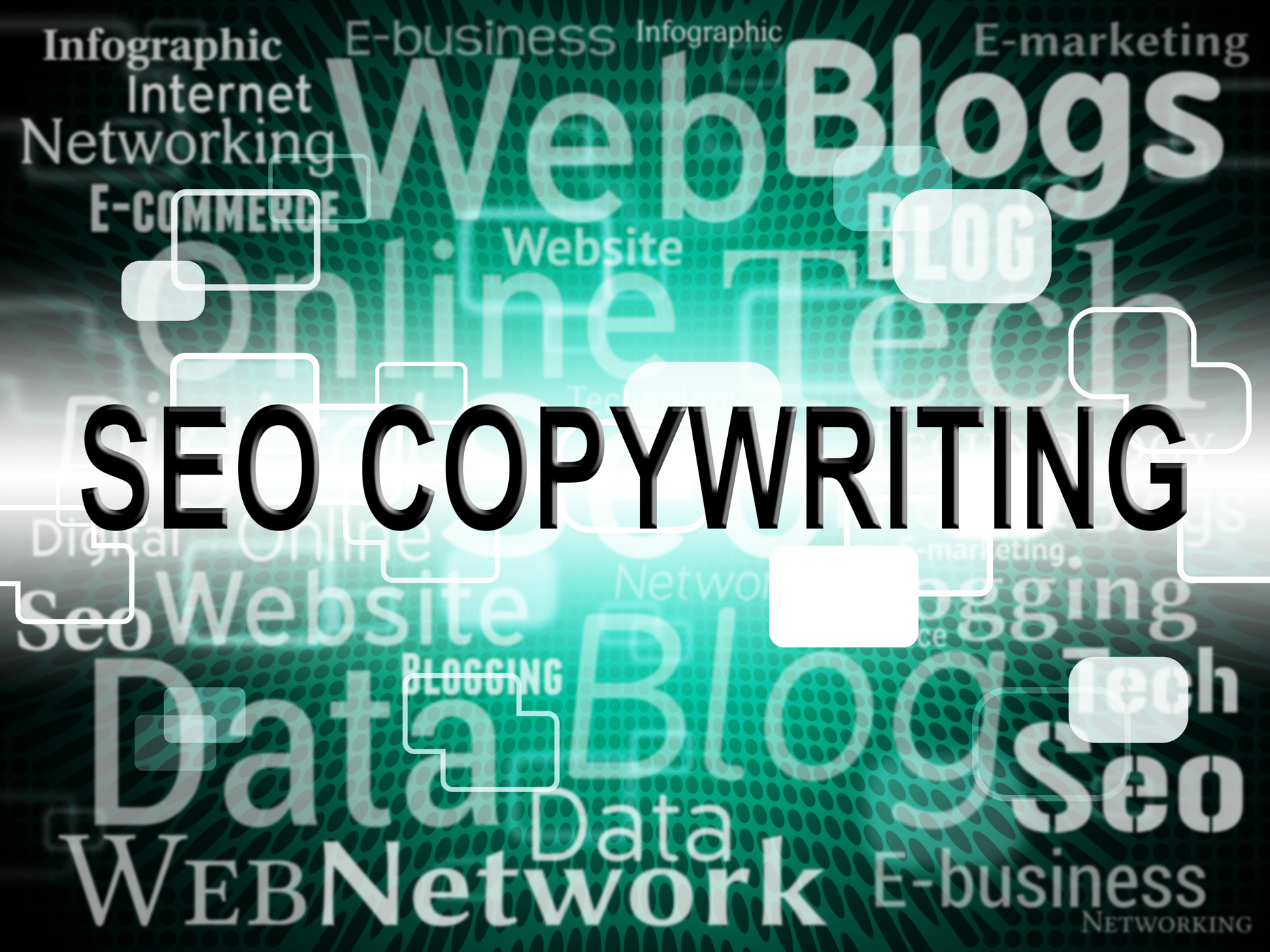 Seo copywriting represents search engines and advert photo