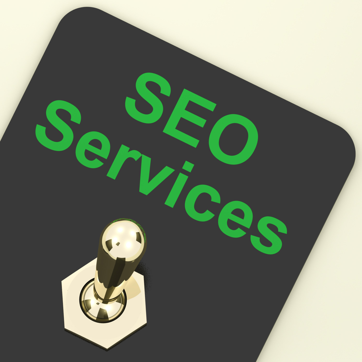 Seo services switch representing internet optimization and promotion photo